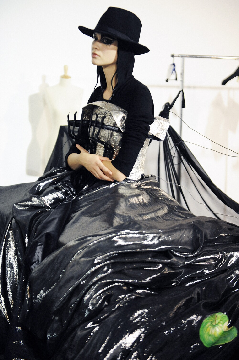 Fashion Model Backstage Yohji Yamamoto