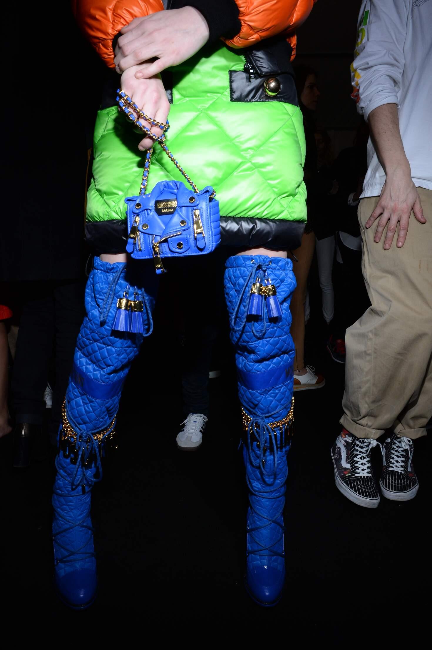 Fashion Model Detail Moschino Backstage