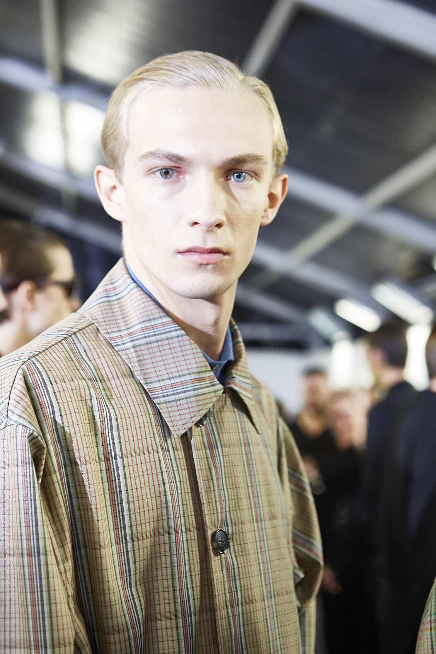 Fashion Model Ermenegildo Zegna Backstage
