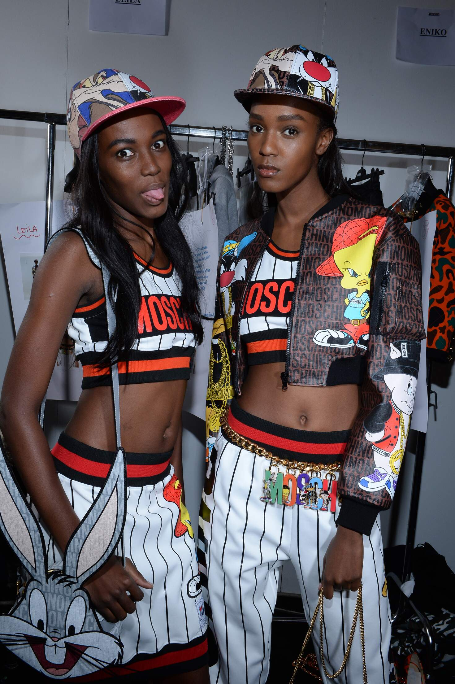 Fashion Models Backstage Moschino