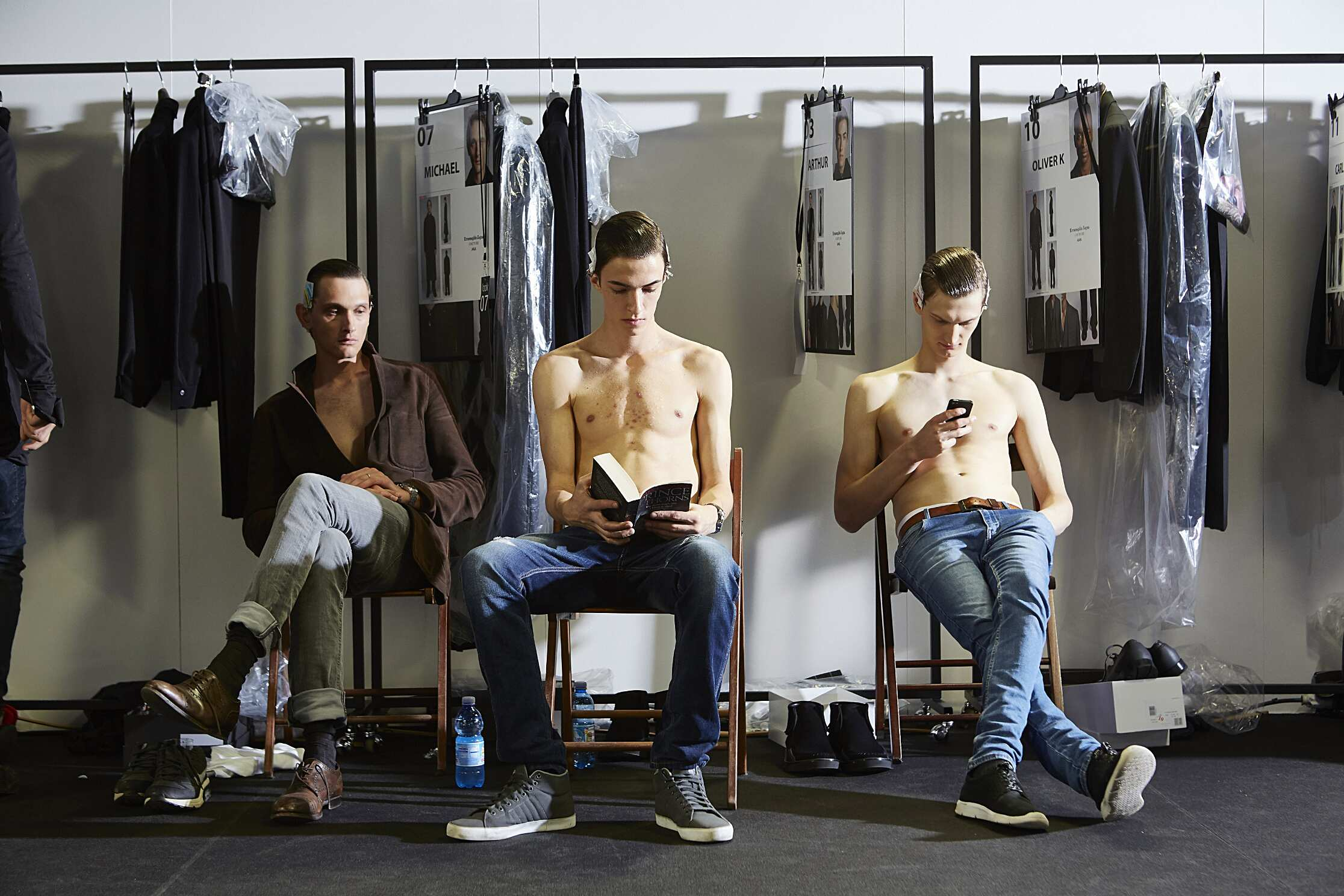Fashion Models Ermenegildo Zegna Couture Backstage