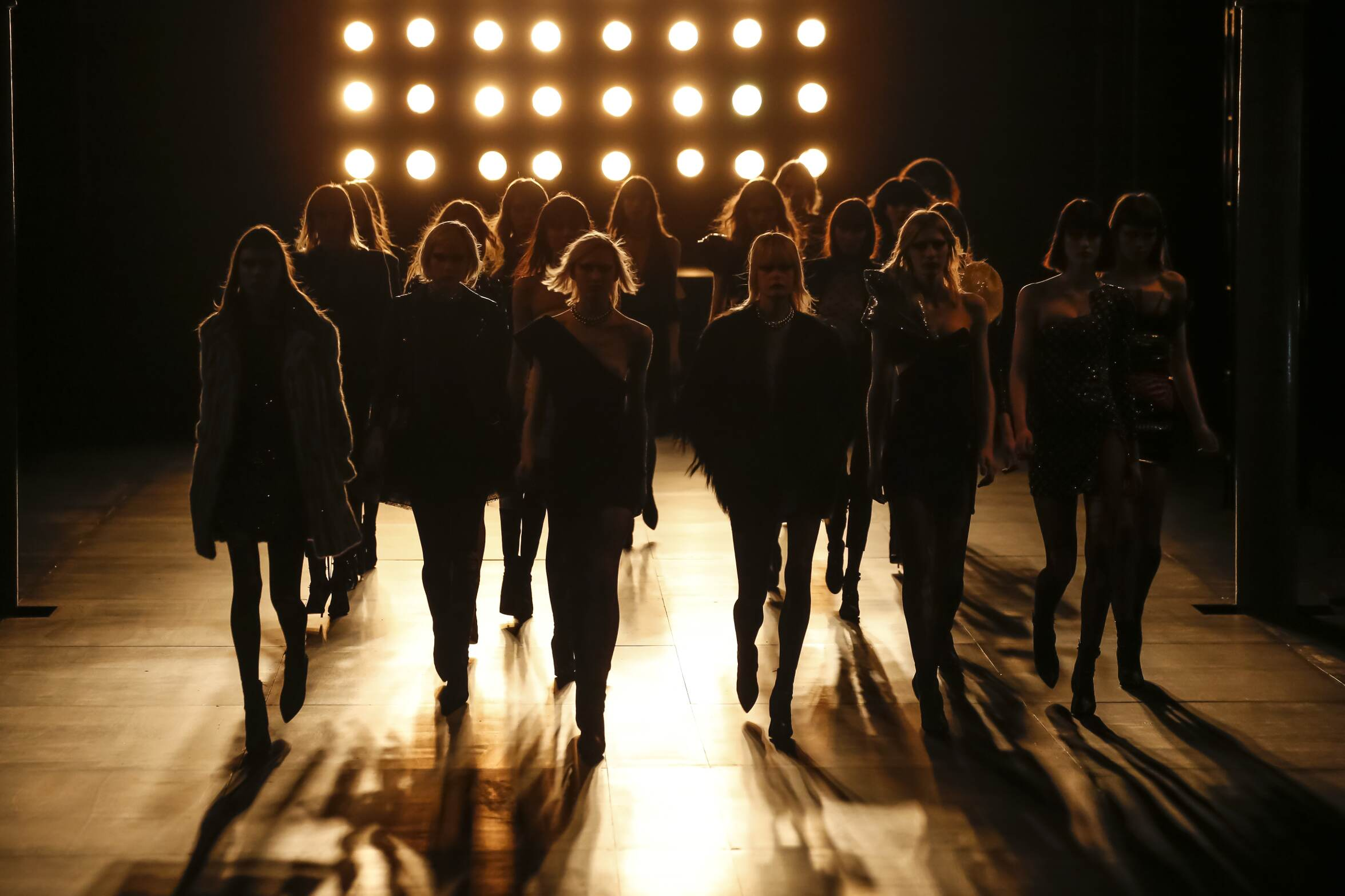 Fashion Show Finale FW 2015 2016 Saint Laurent Womenswear