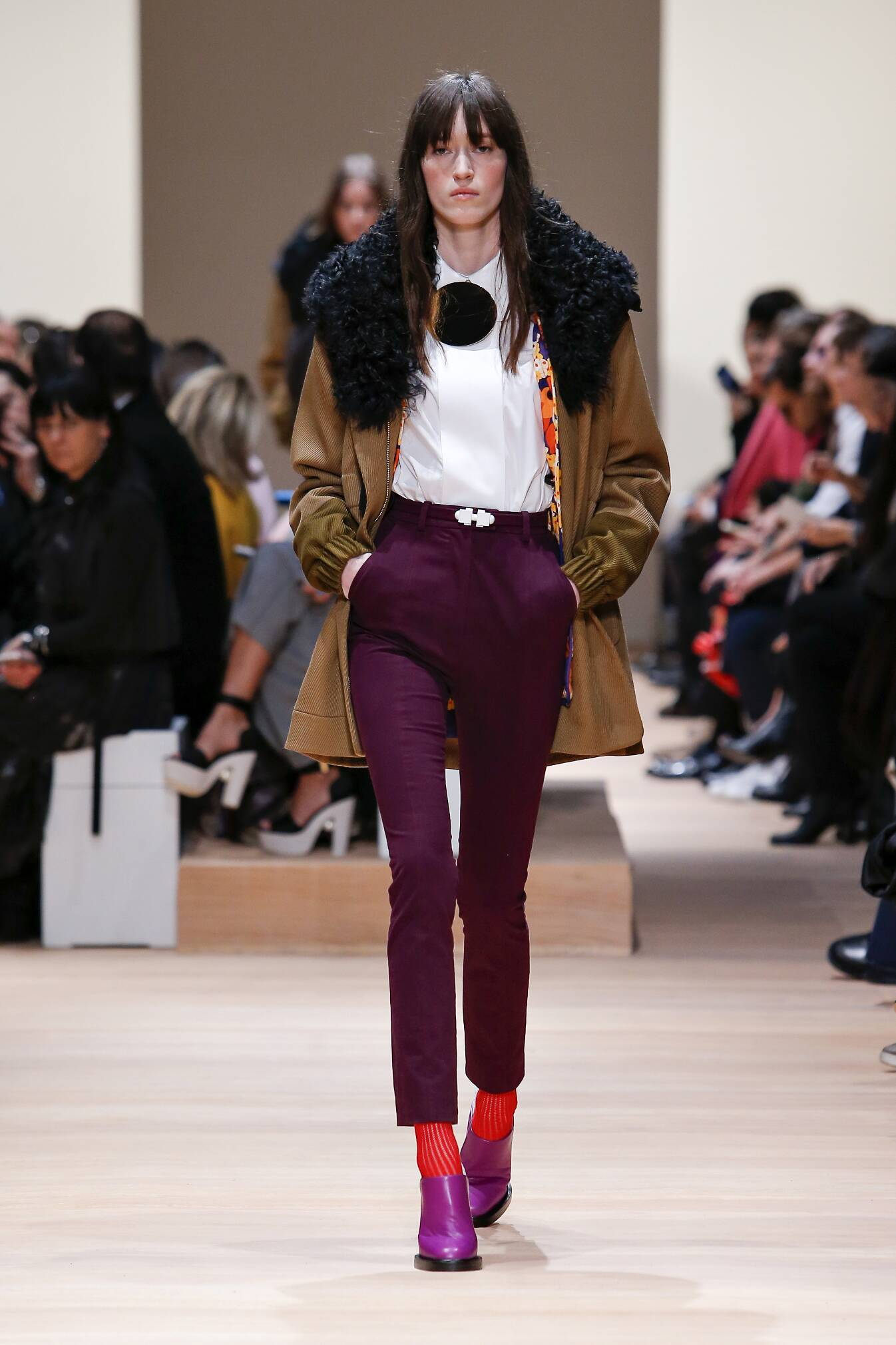 Fashion Woman Model Carven Collection Catwalk