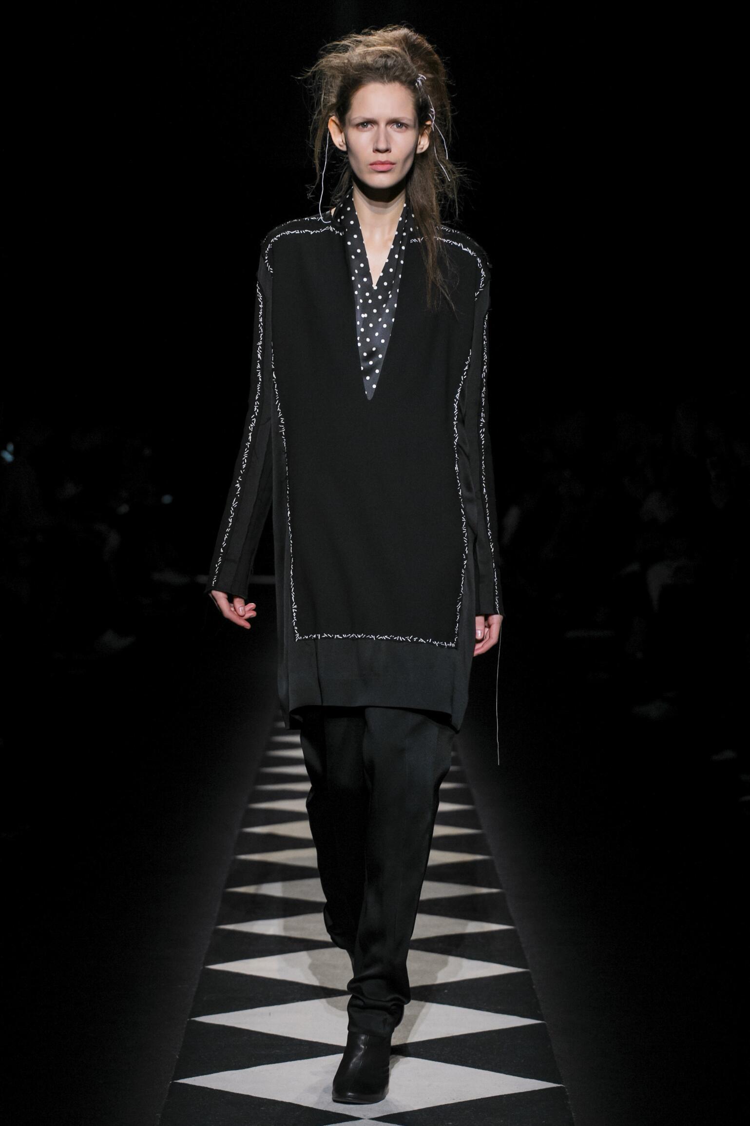 Fashion Woman Model Haider Ackermann Collection Catwalk