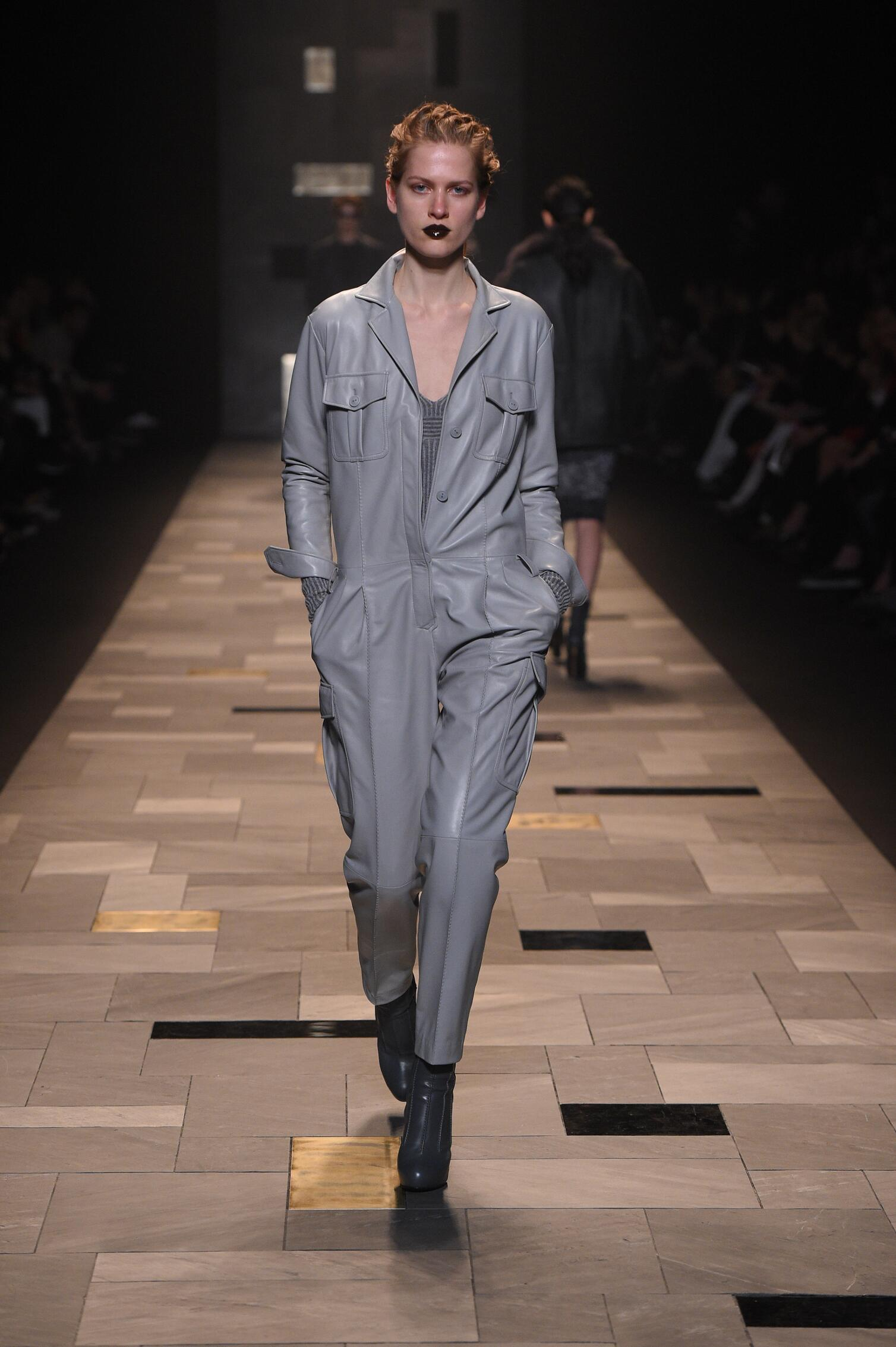 Fashion Woman Model Trussardi Collection Catwalk