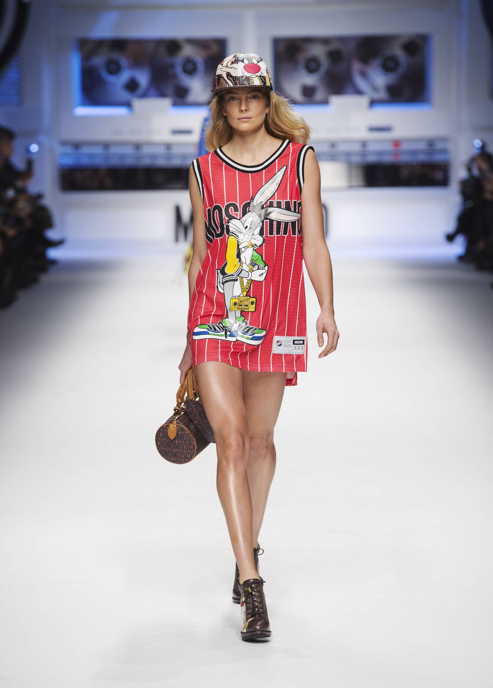 Fashion Women Models Moschino Collection Catwalk