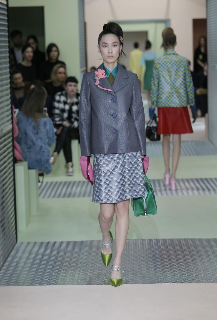 Fashion Women Models Prada Collection Catwalk