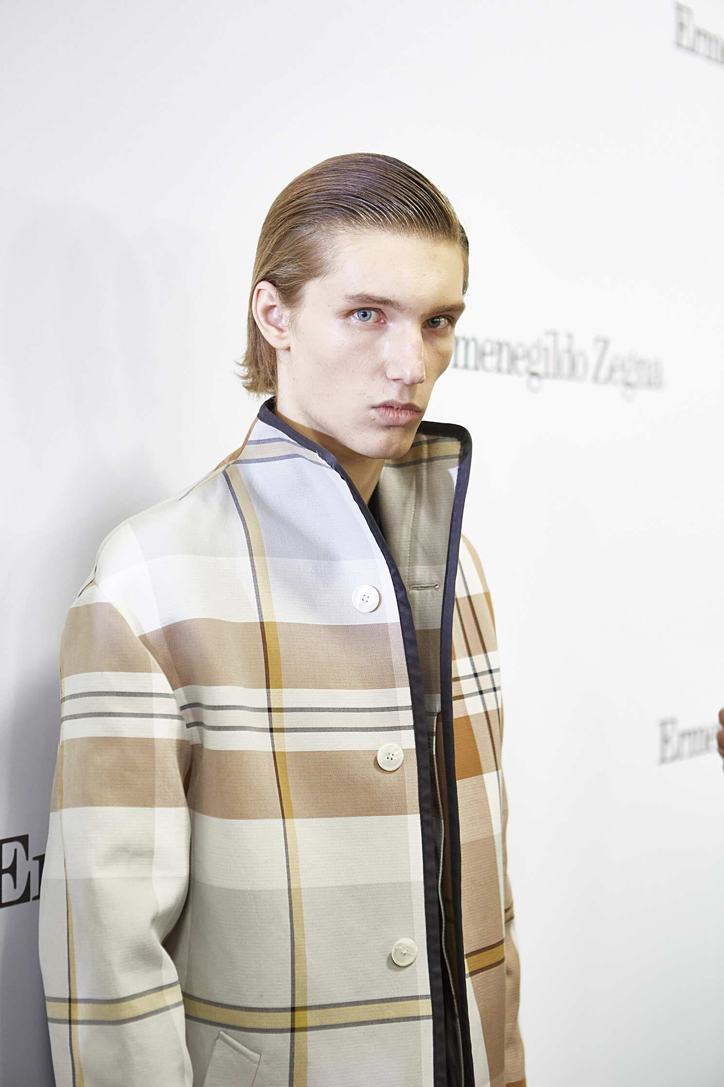 Man Model Backstage Ermenegildo Zegna Couture