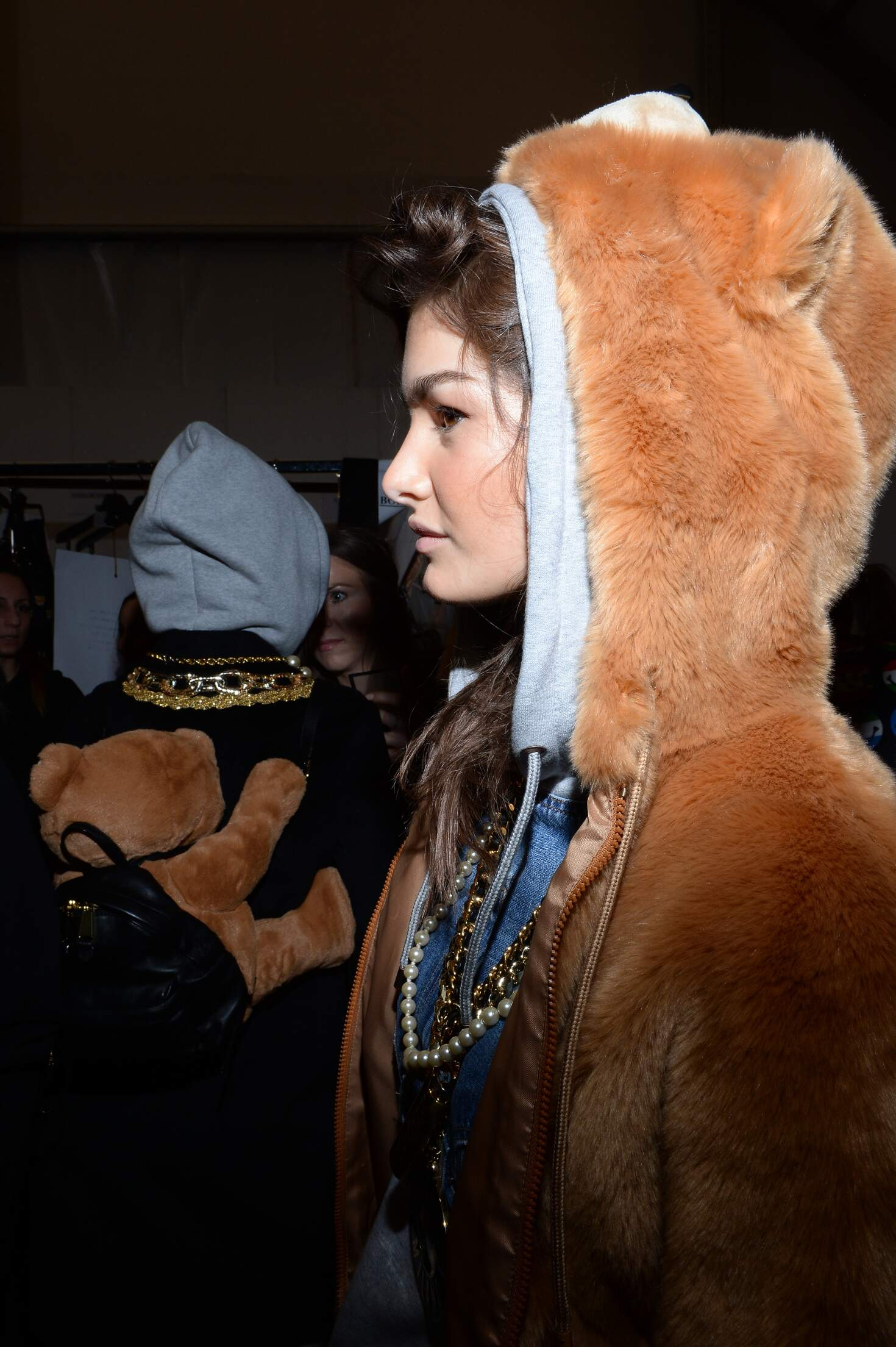 Model Backstage Moschino Milan