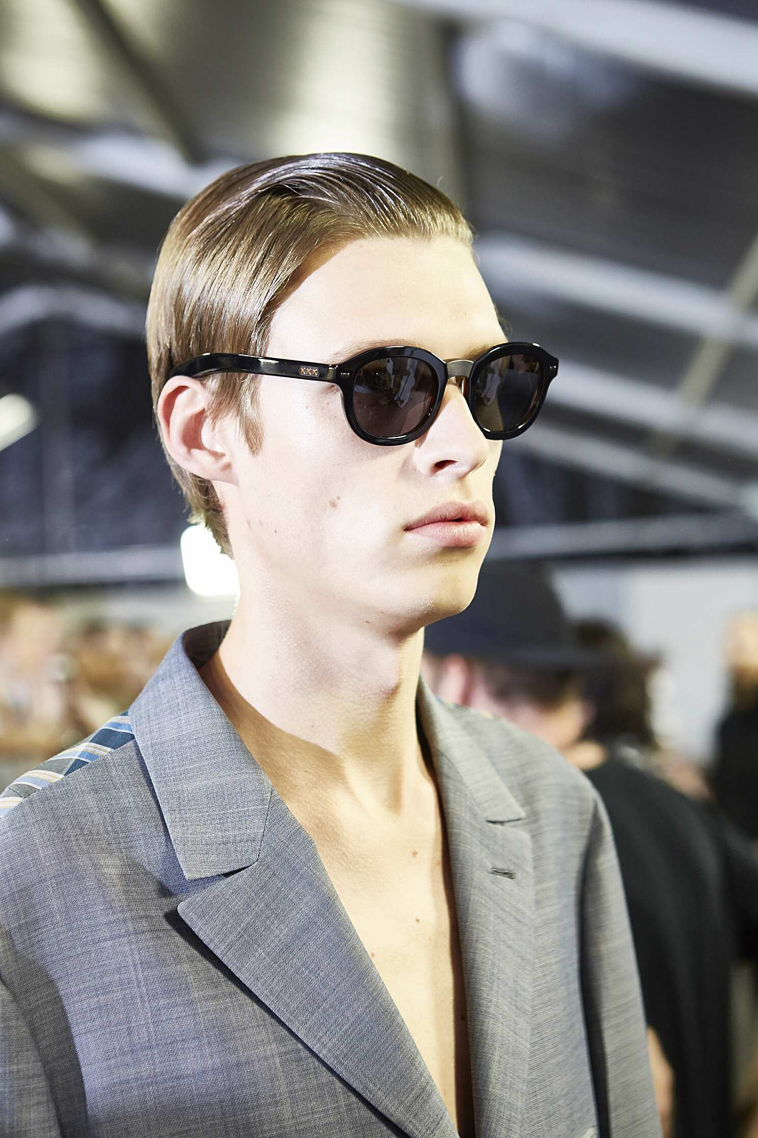 Model Ermenegildo Zegna Couture Backstage 2016