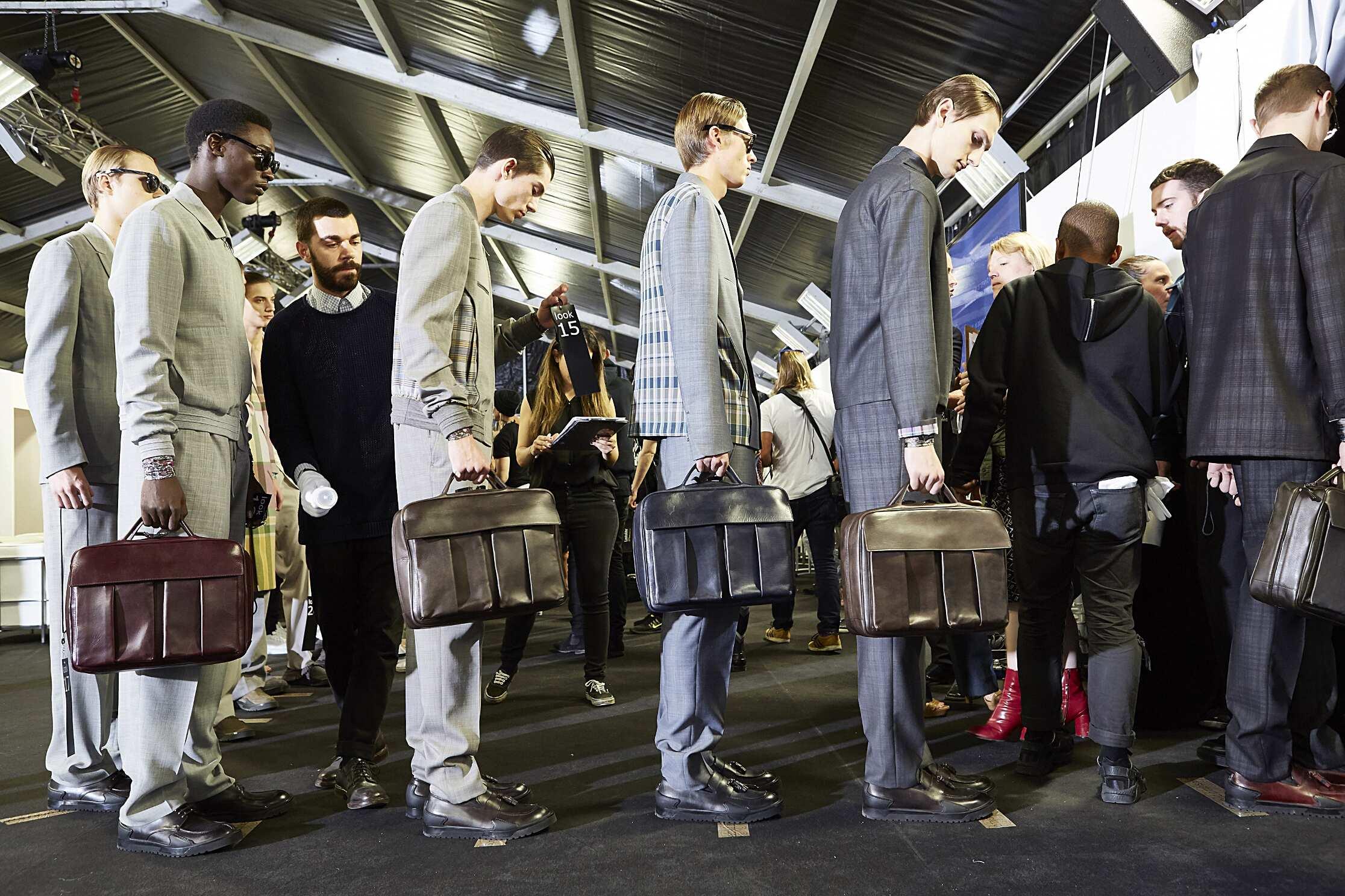 Models Ermenegildo Zegna Couture Backstage Milan