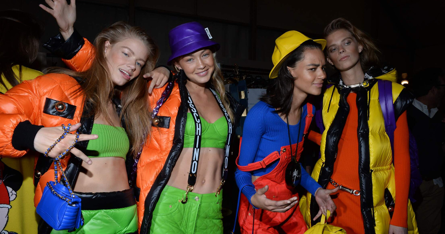 Models Moschino Backstage 2015