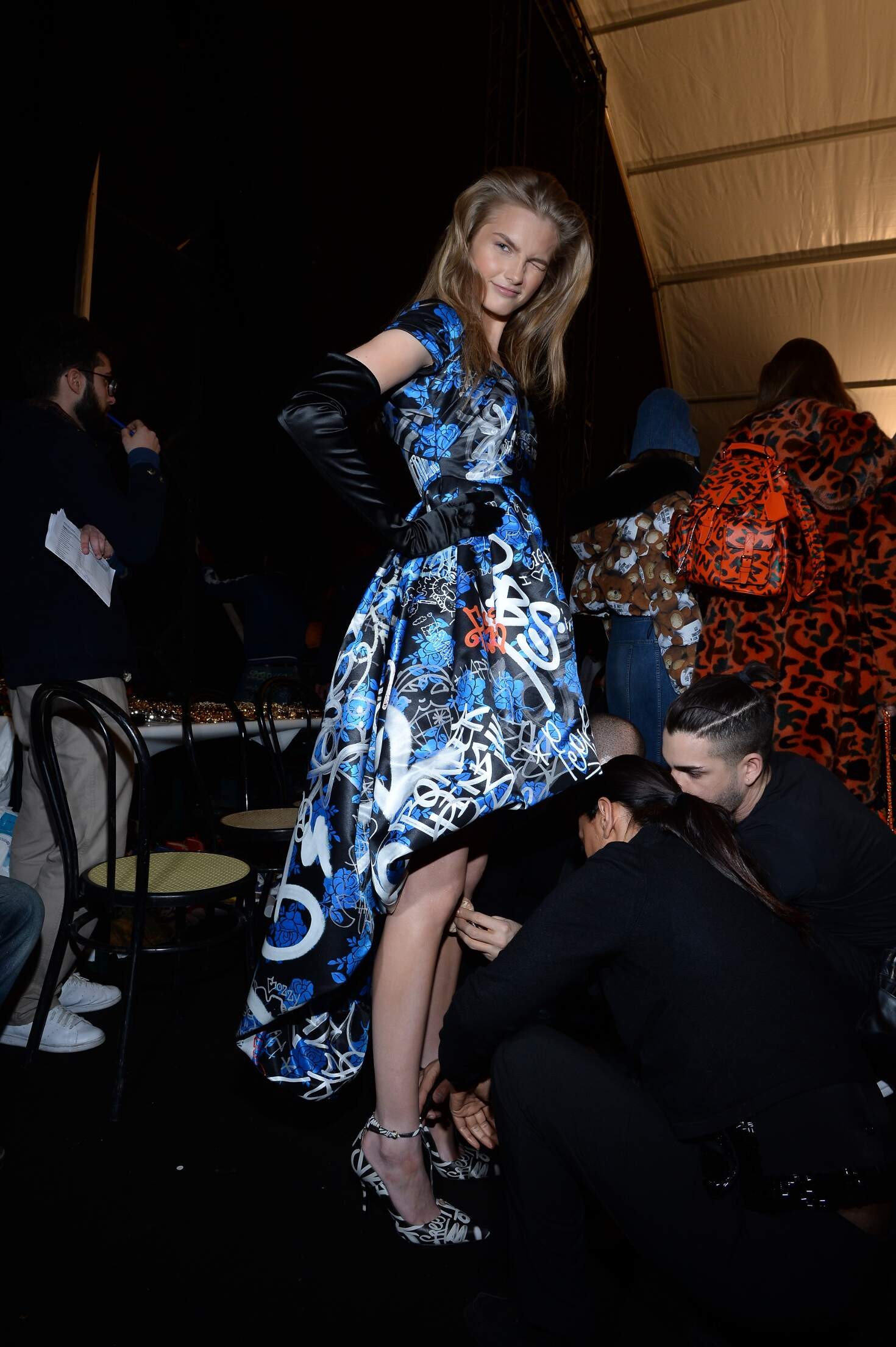 Moschino Backstage 2015 Milan
