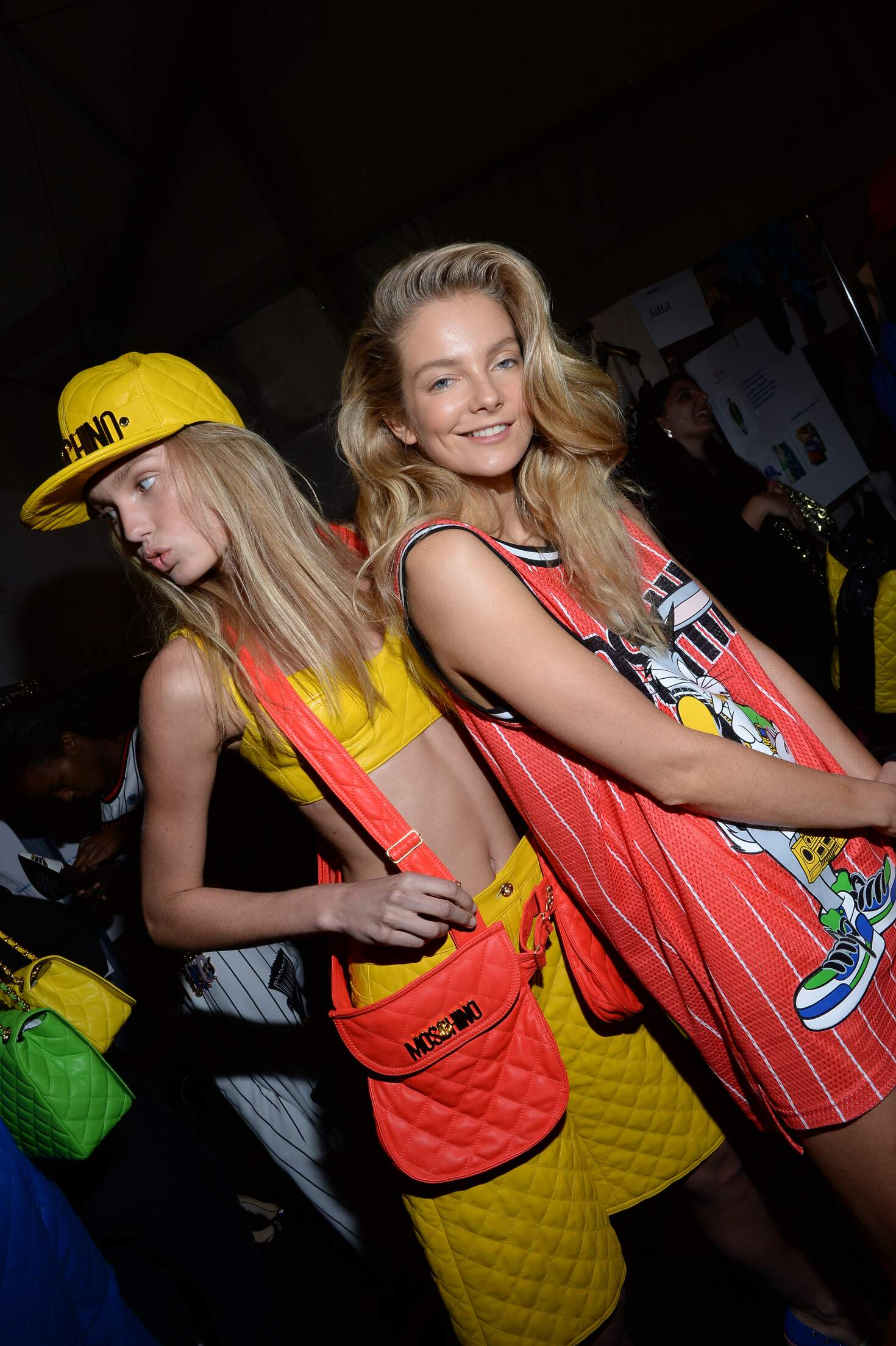 Moschino Backstage Fashion Models