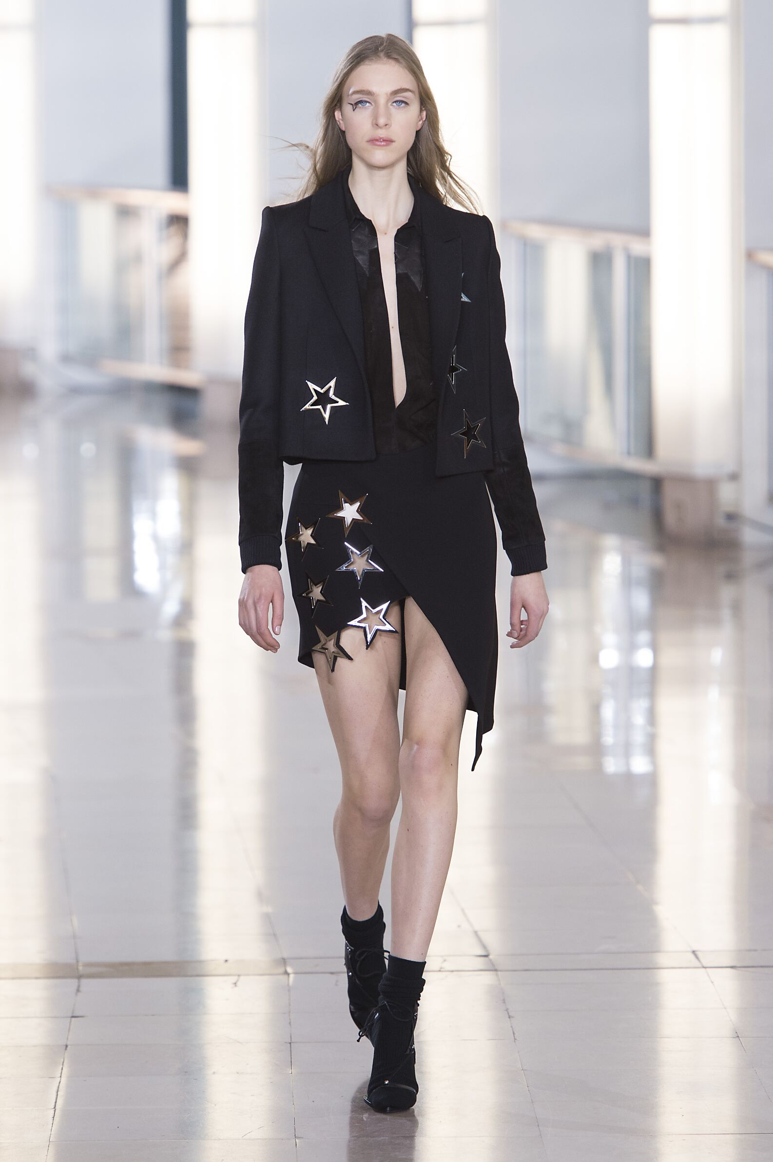 Runway Anthony Vaccarello Fall Winter 2015 16 Women's Collection Paris Fashion Week