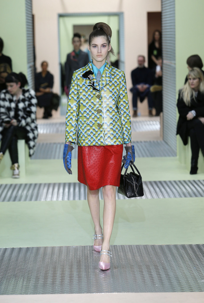Runway Prada Fall Winter 2015 16 Women's Collection Milan Fashion Week
