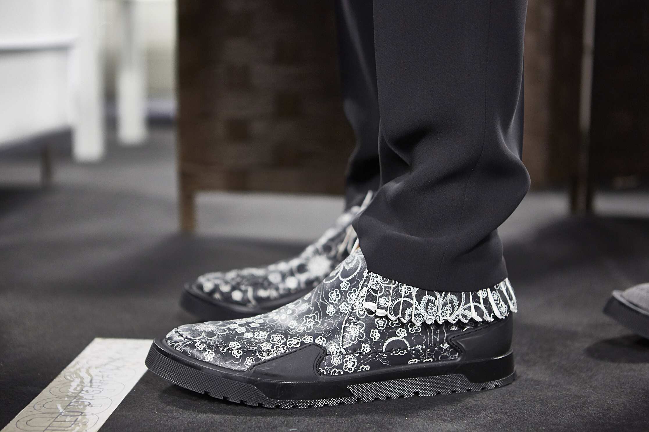 Shoes Backstage Ermenegildo Zegna