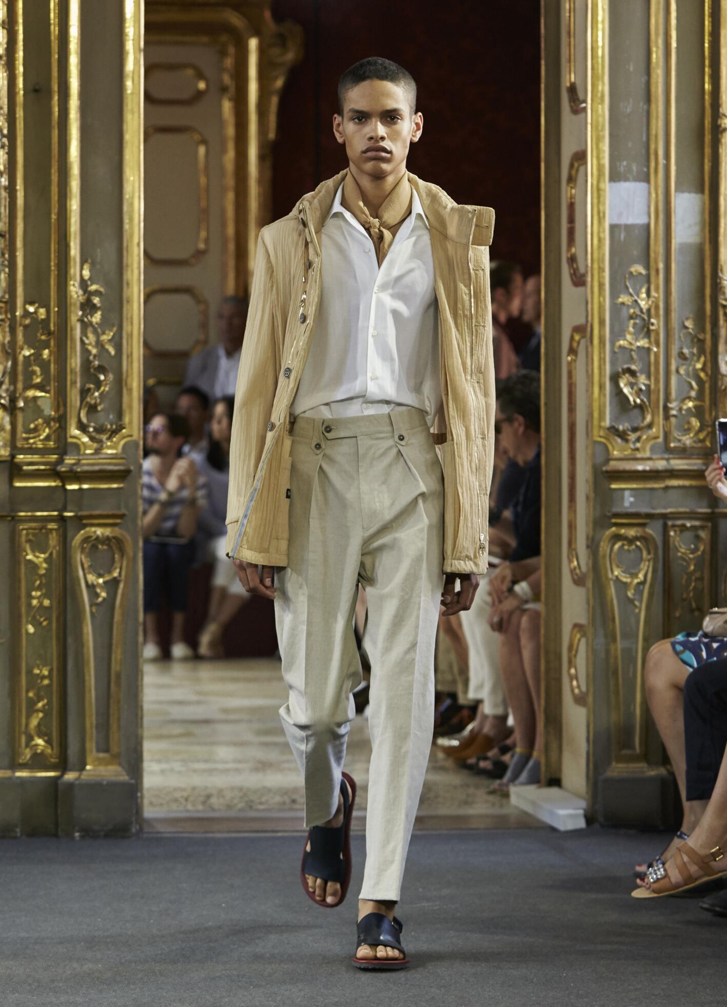 Spring Corneliani Collection Fashion Men Model
