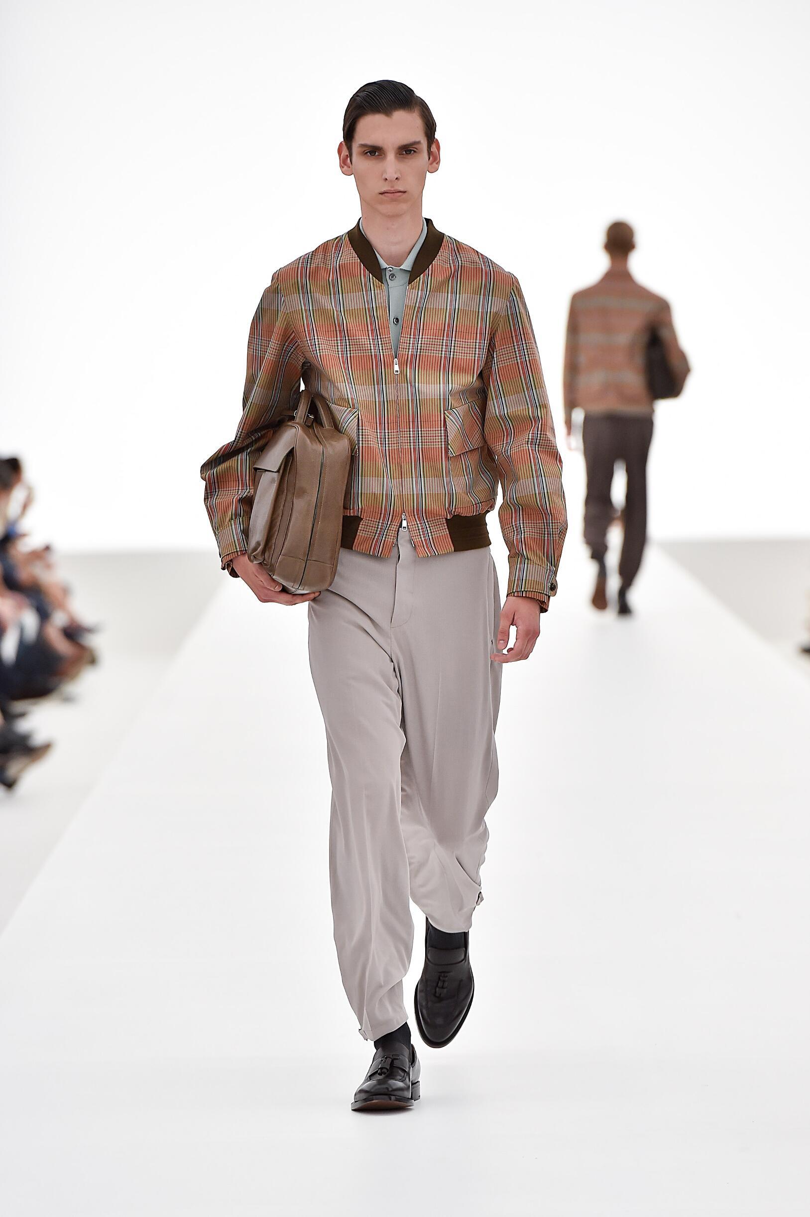 Spring Ermenegildo Zegna Couture Collection Fashion Men Model