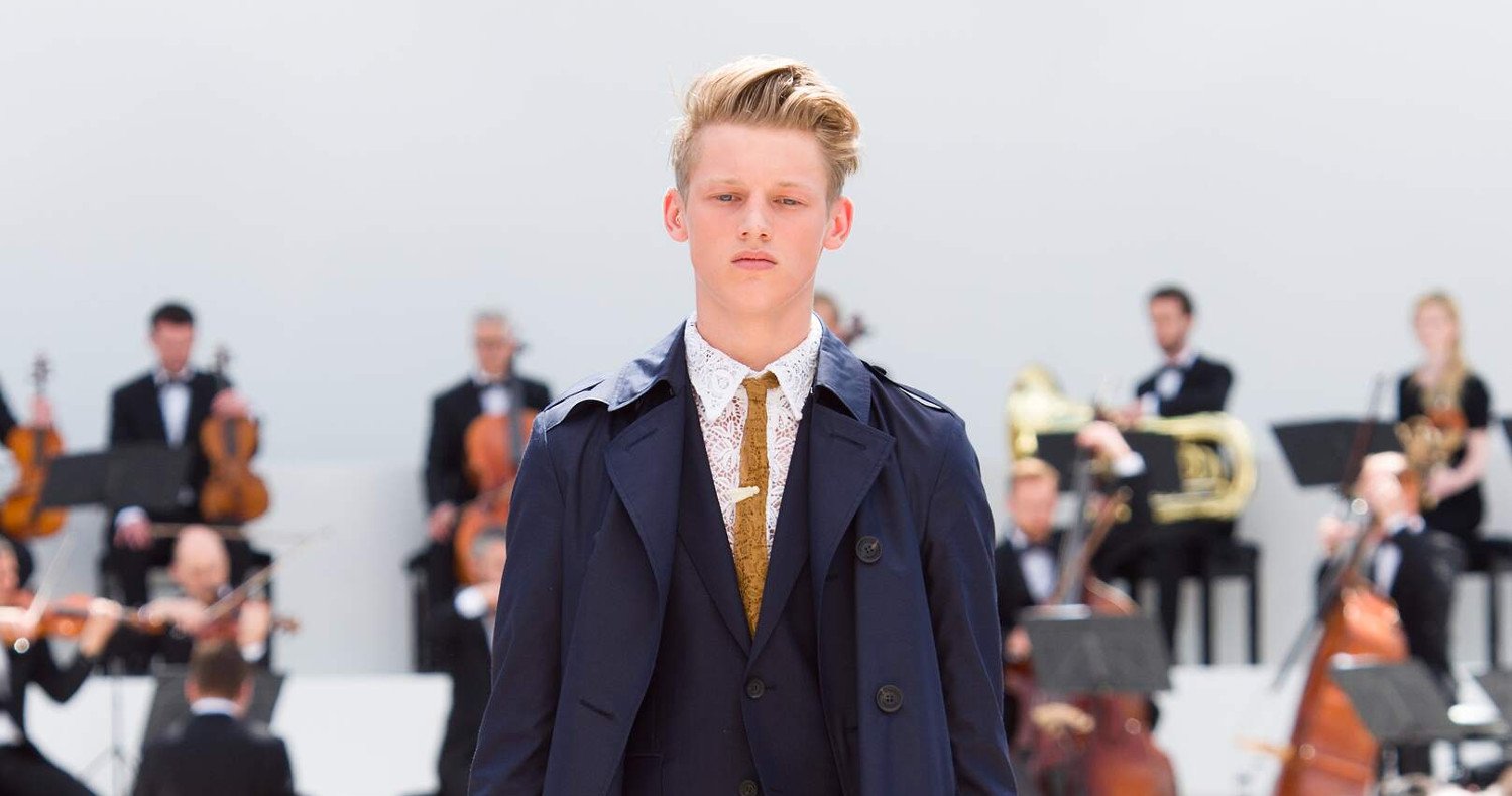 Spring Fashion Man Burberry Prorsum Collection 2015