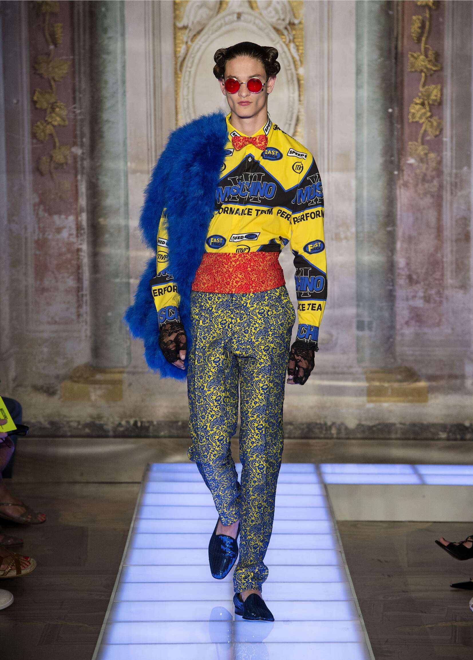 Spring Moschino Collection Fashion Men Model
