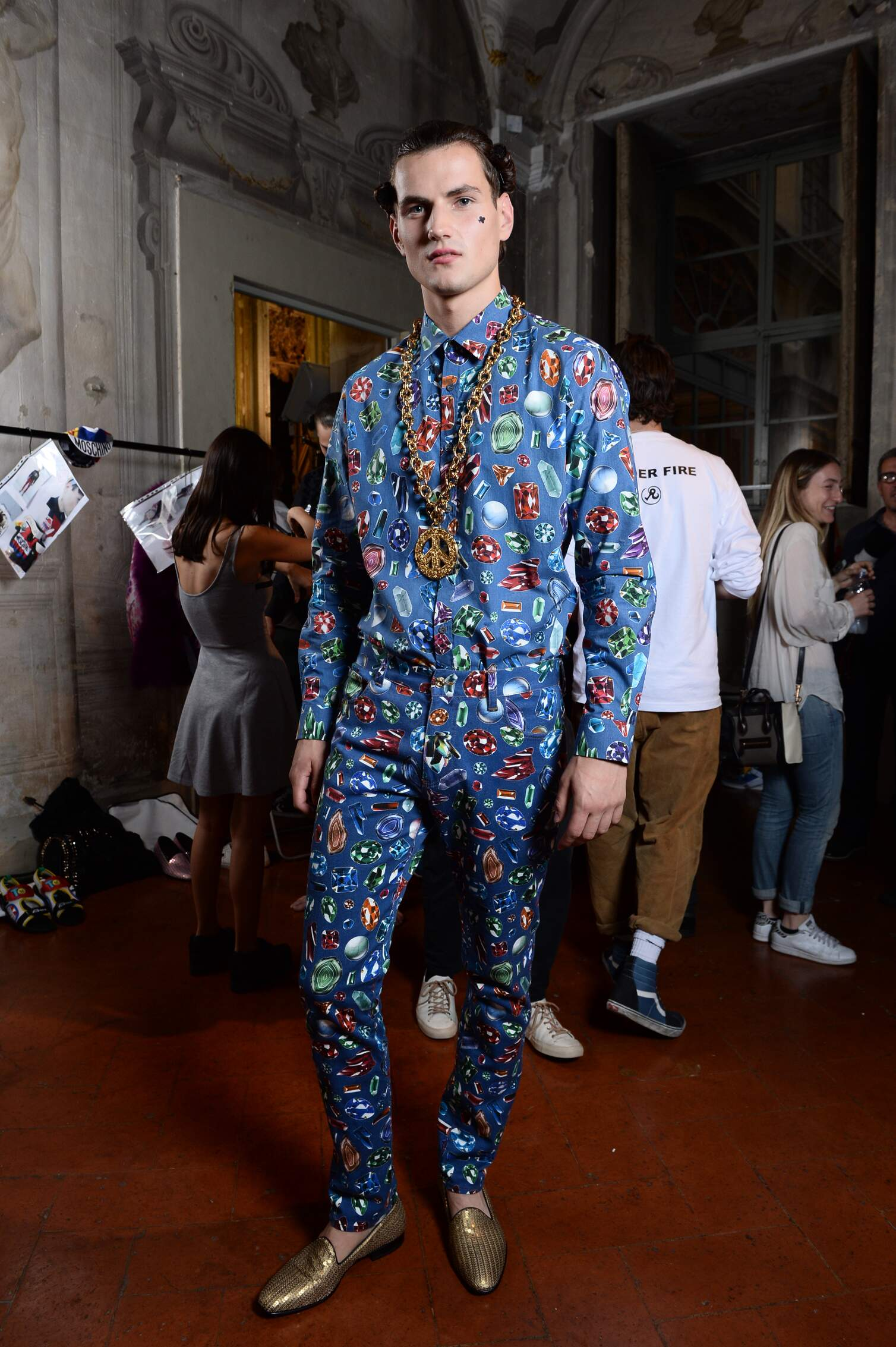 Backstage Man Moschino Model