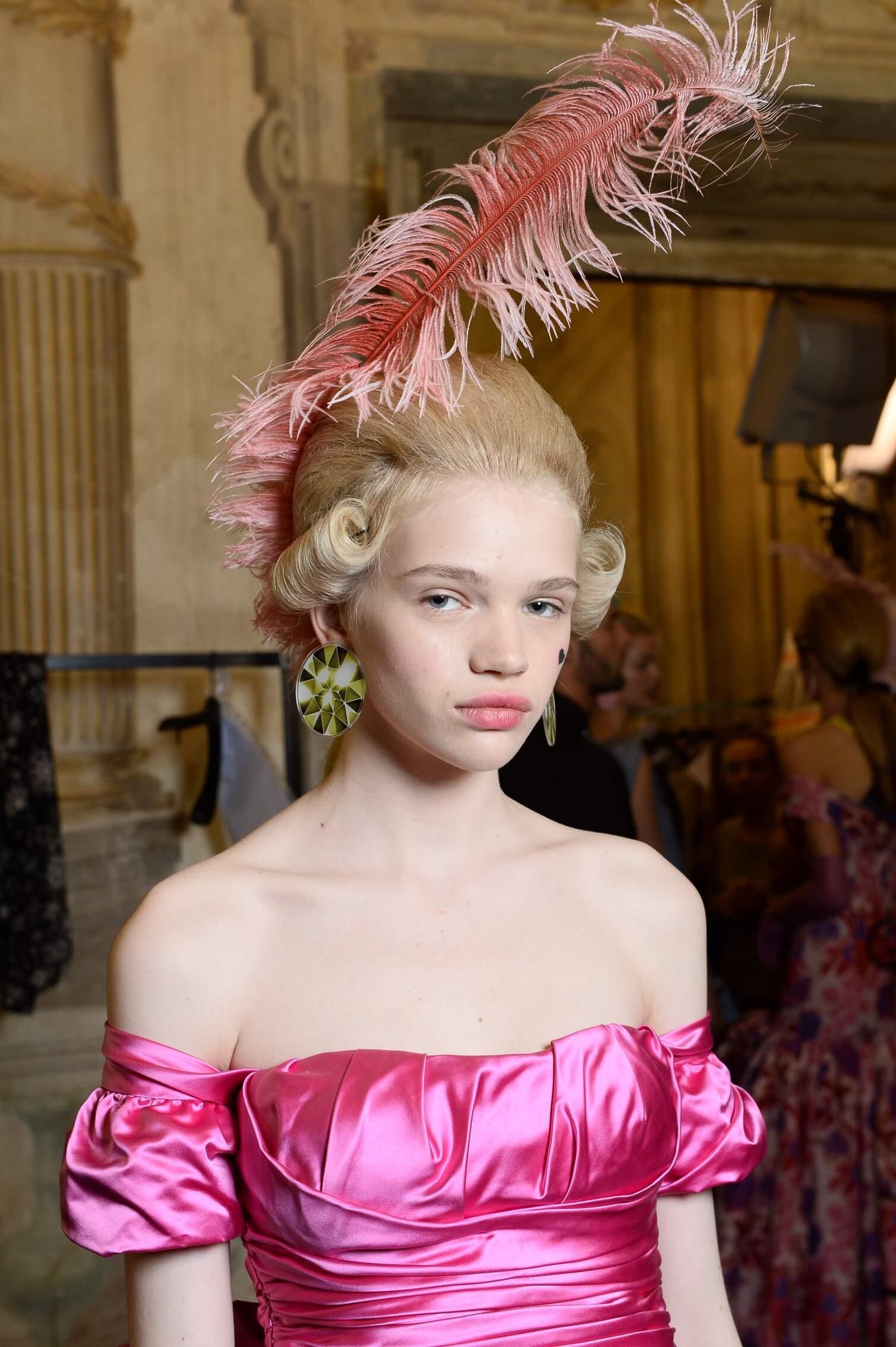 Backstage Moschino Fashion Show Portrait