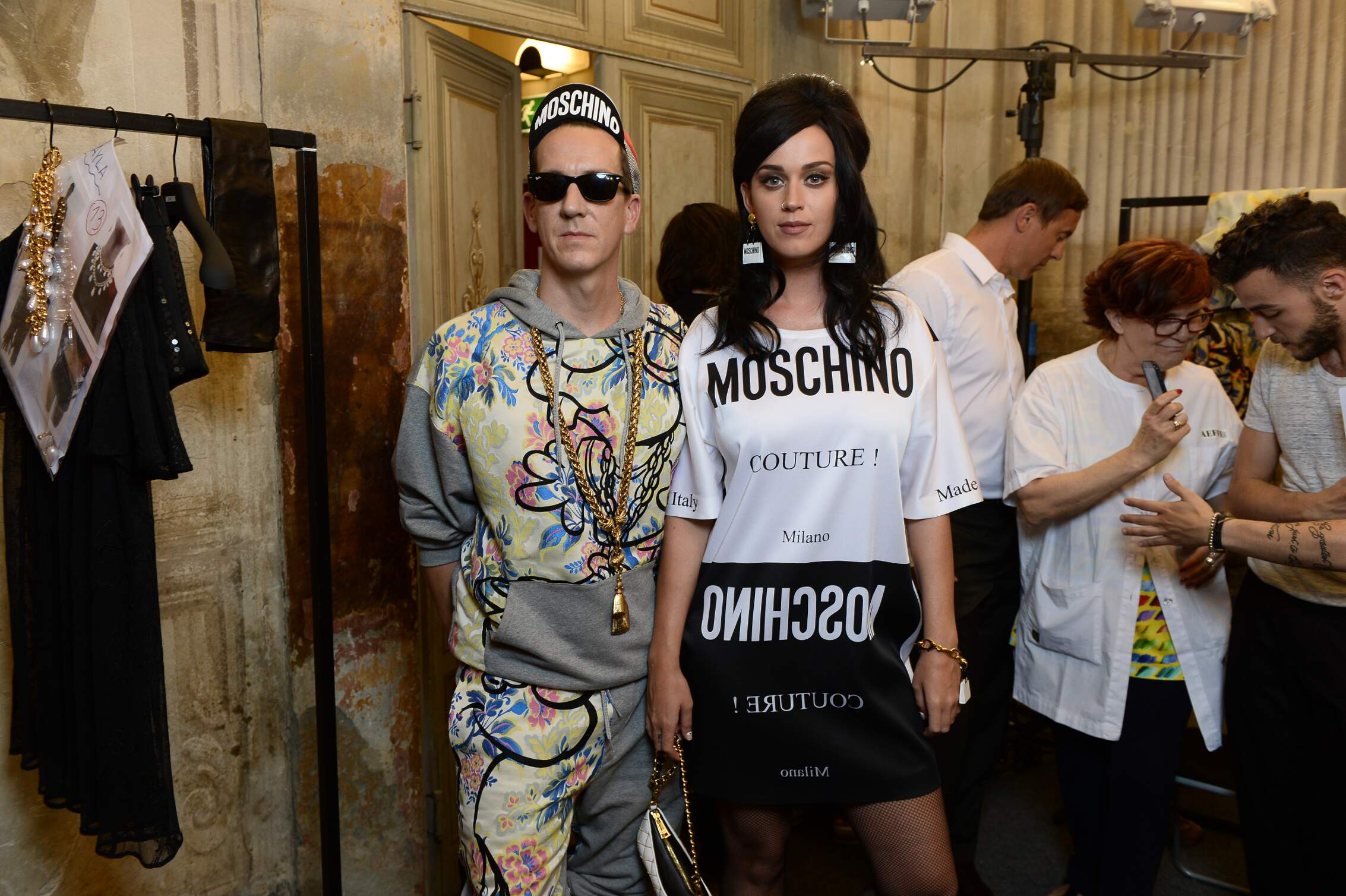 Backstage Moschino Fashion Show