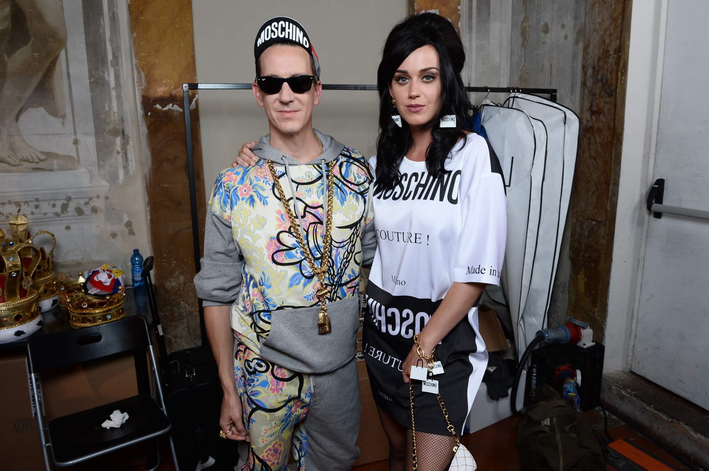 Backstage Moschino Jeremy Scott and Katy Perry Pitti Florence