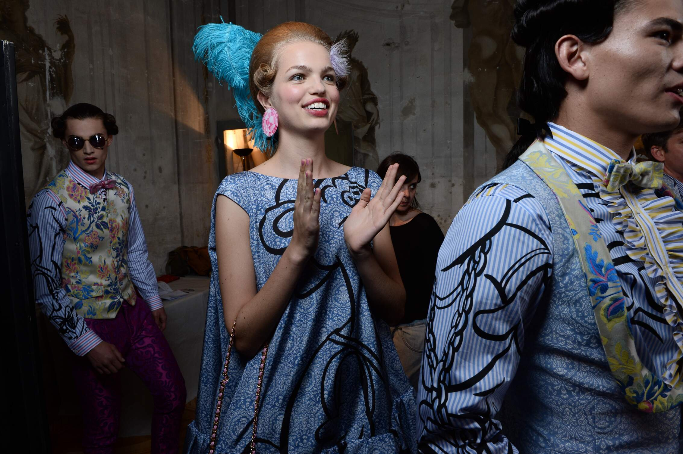 Backstage Moschino Models Florence