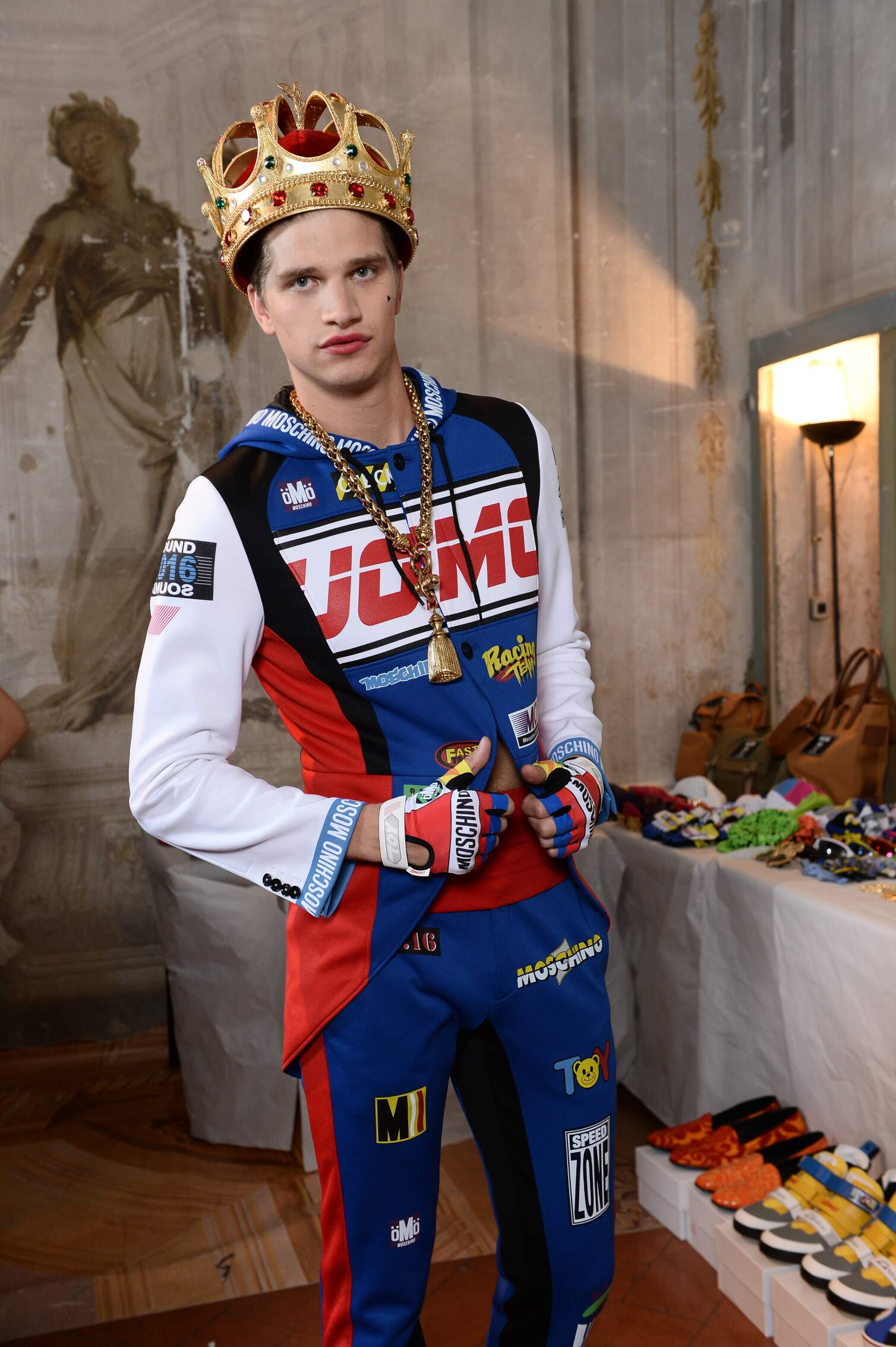 Fashion Model Moschino Backstage