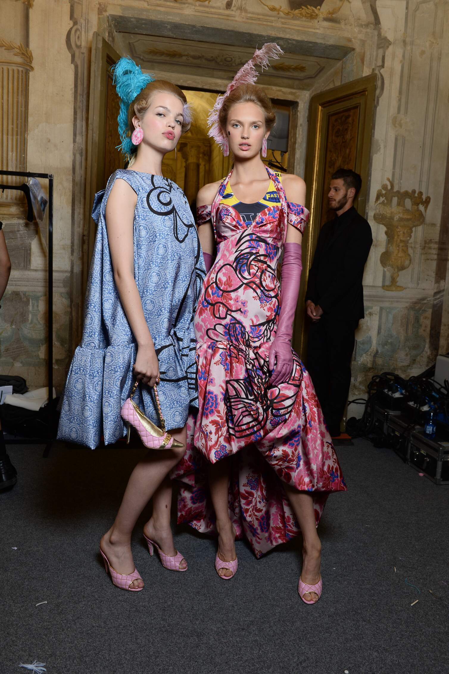 Fashion Models Moschino Backstage Florence