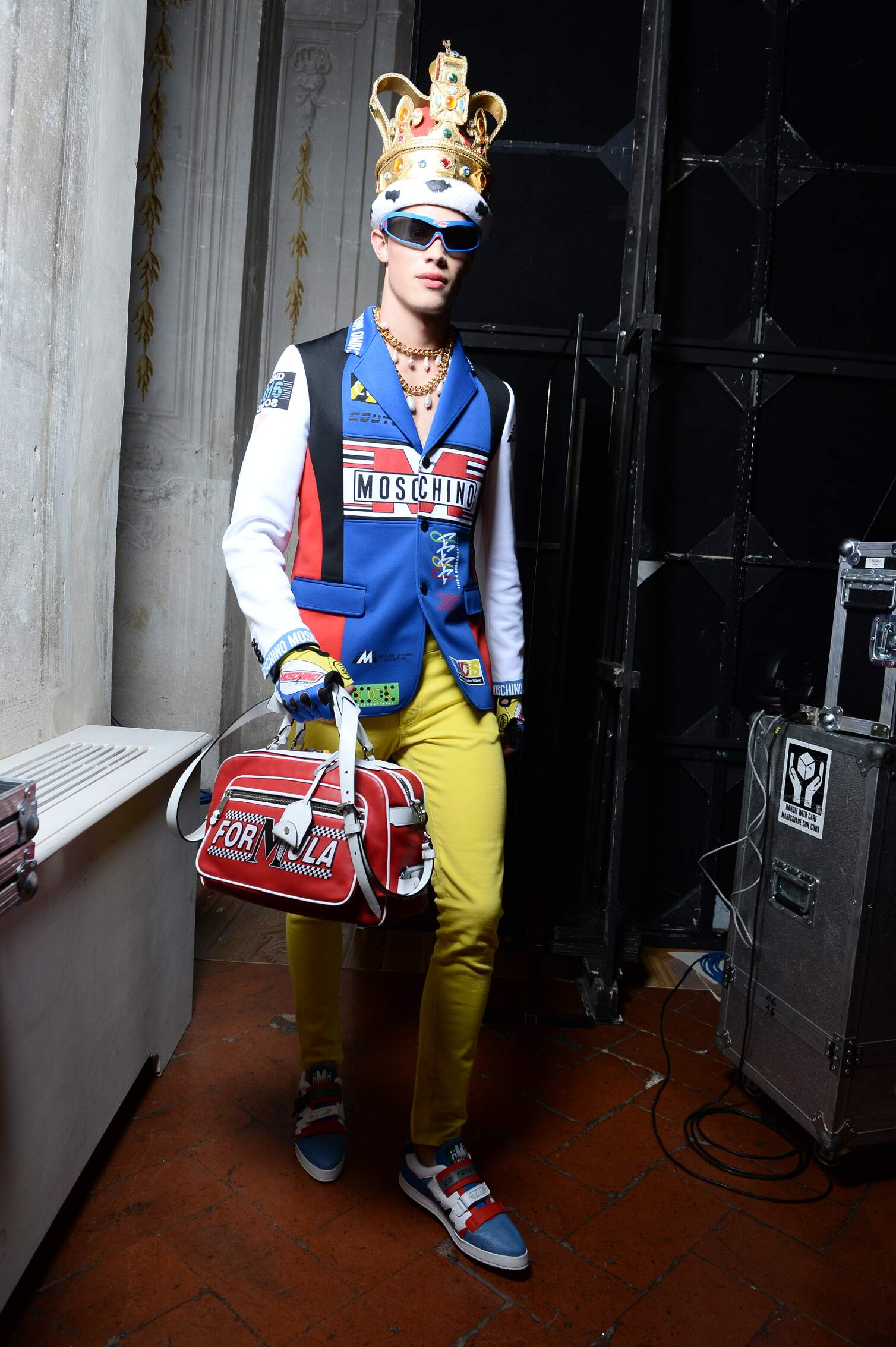 Model Backstage Moschino Florence