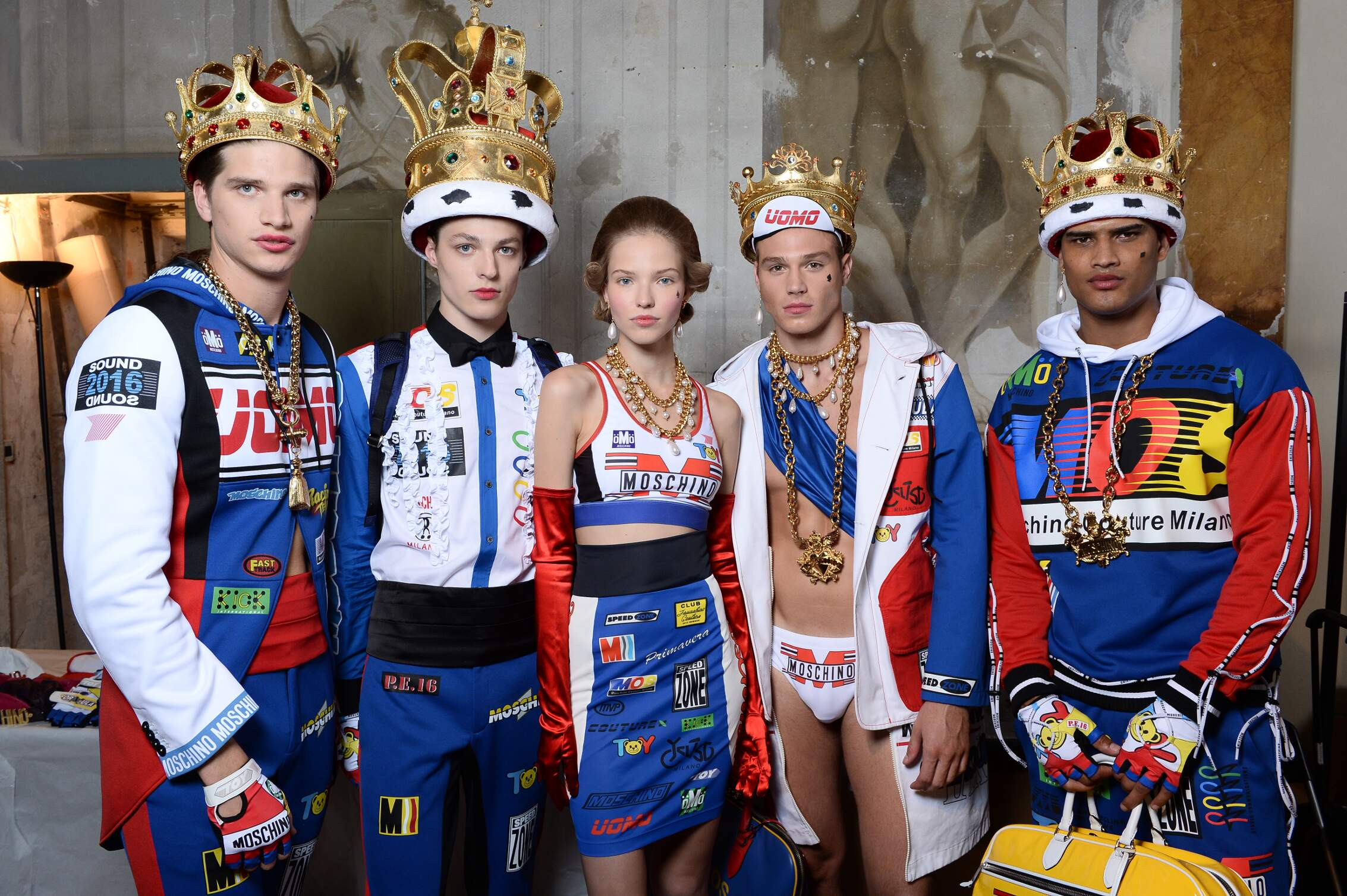 Moschino Backstage Fashion Models Florence