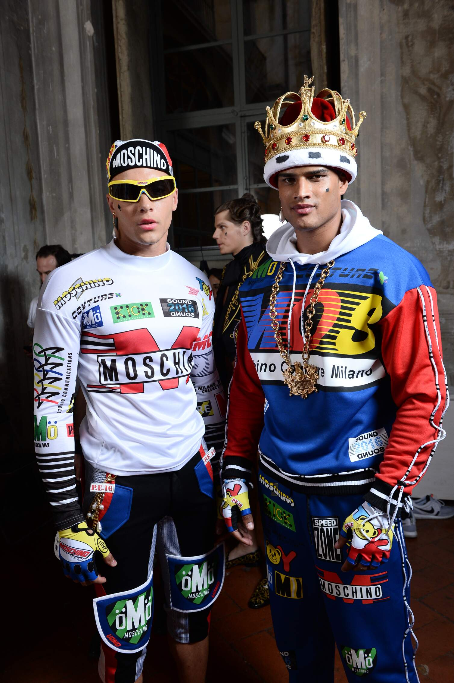 Moschino Backstage Fashion Models Menswear