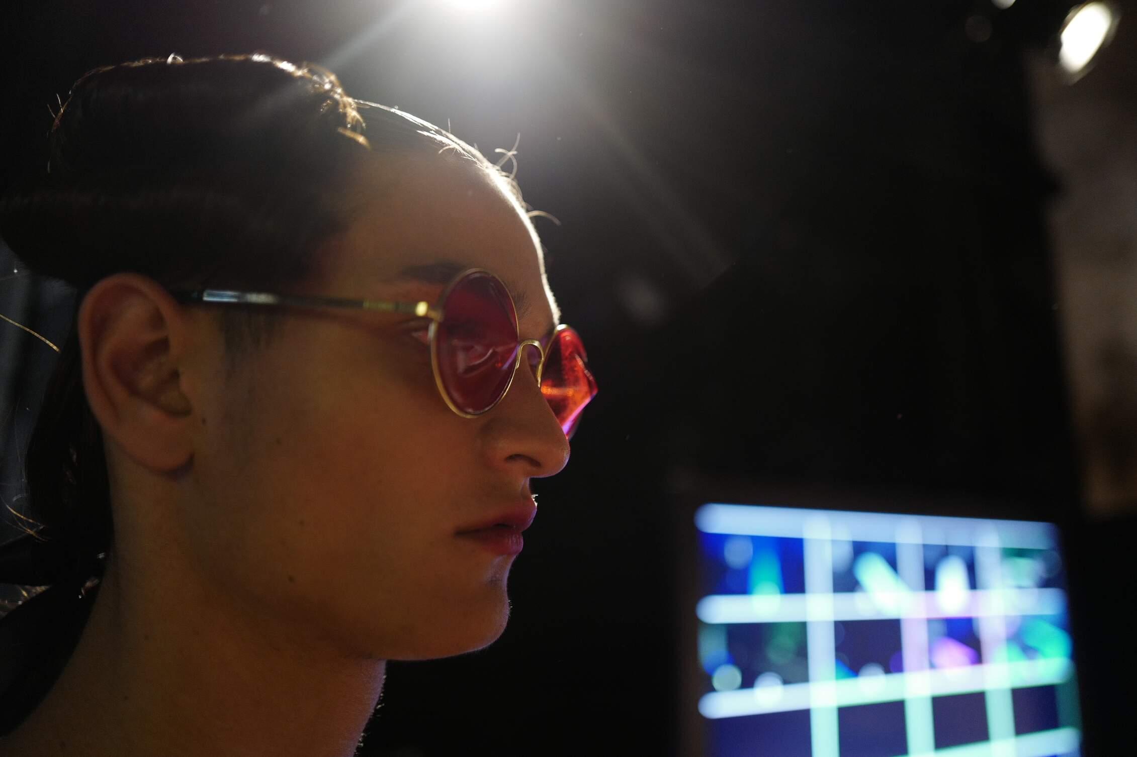 SS 2016 Moschino Backstage Fashion Model Details