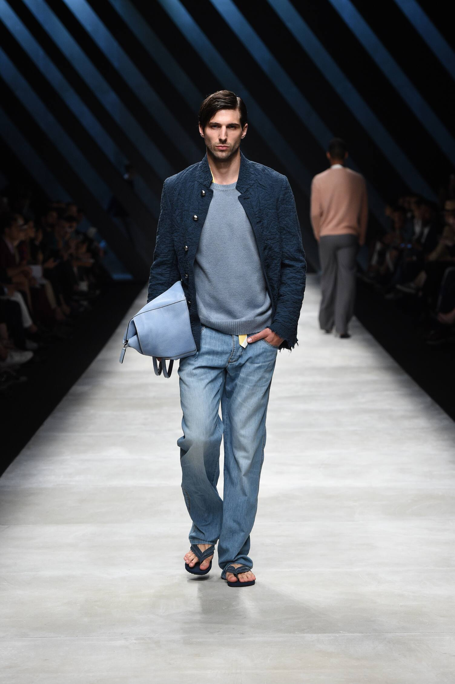 2016 Fashion Man Model Ermanno Scervino Collection Catwalk