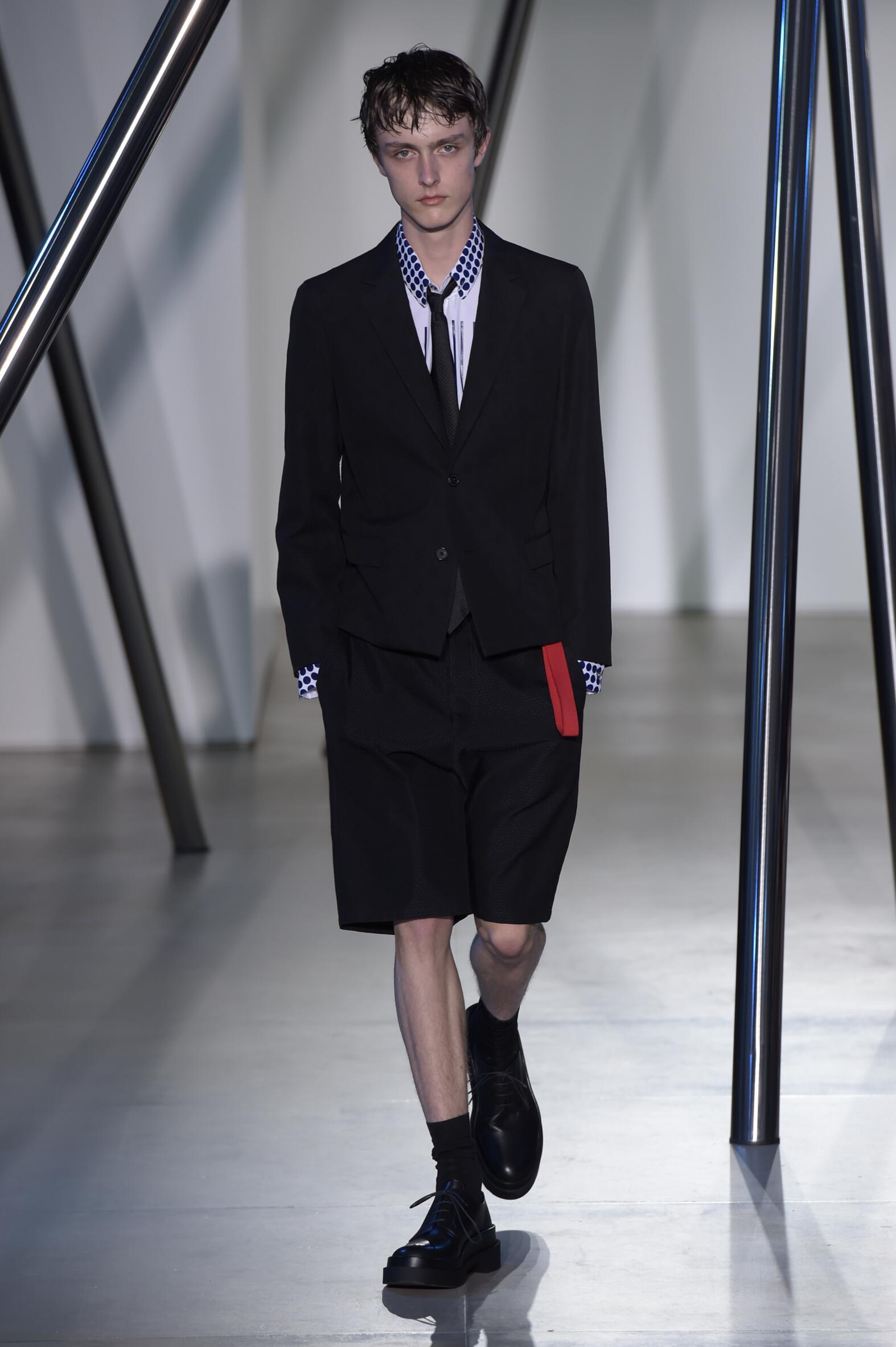 2016 Fashion Man Model Jil Sander Collection Catwalk