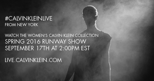Calvin Klein Collection Spring 2016 Women's Runway Show Live Streaming September 17th