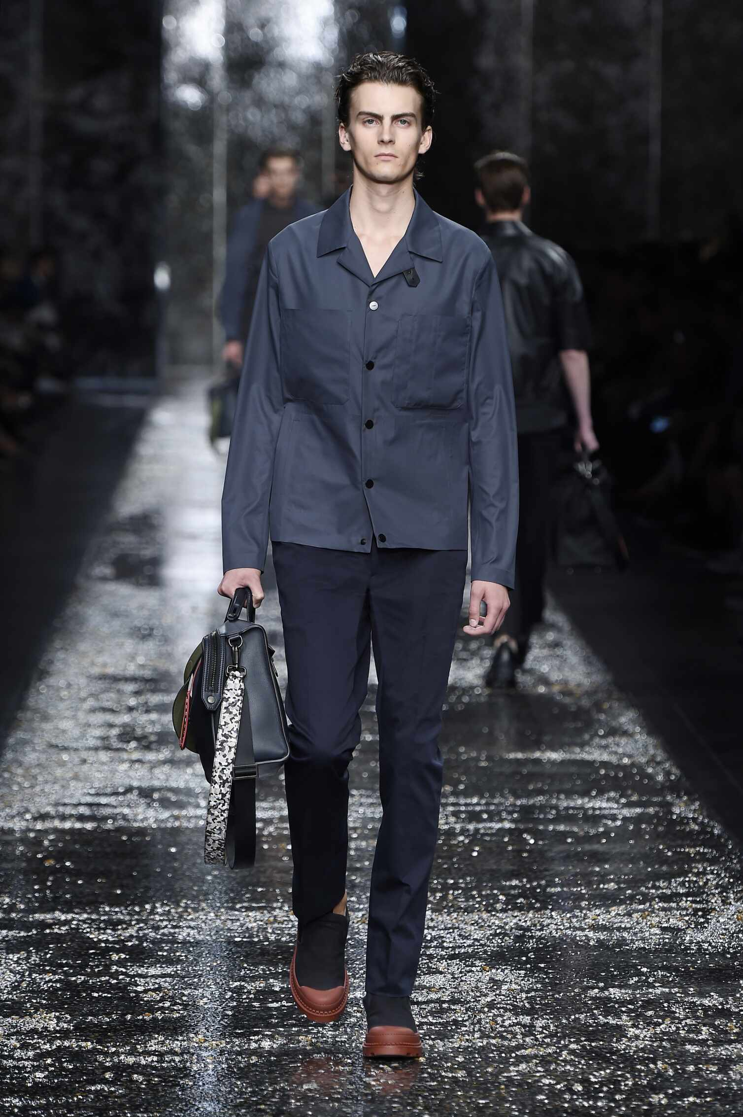 Catwalk Fendi Spring Summer 2016 Men's Collection Milan Fashion Week