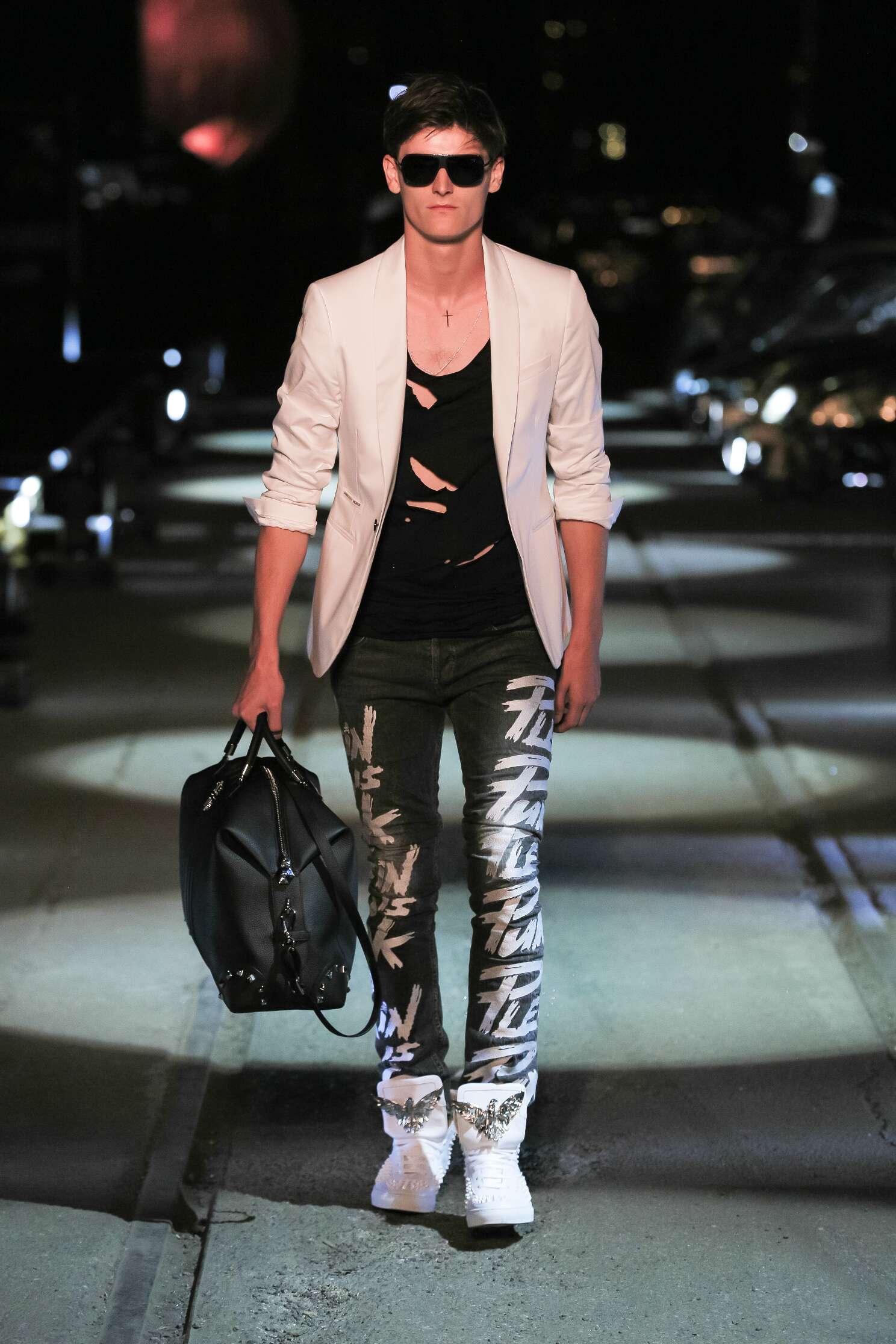 Catwalk Philipp Plein Spring Summer 2016 Men's Collection Milan Fashion Week