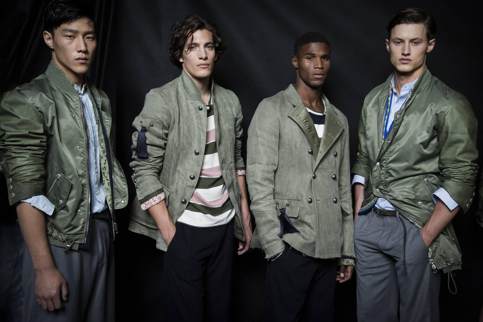 Fashion Models Ermanno Scervino Backstage