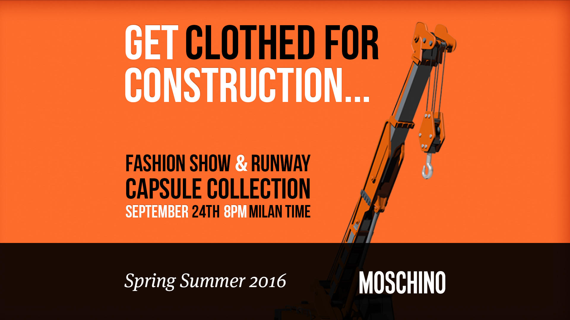 Moschino Spring Summer 2016 Women's Runway Show Live Streaming September 24th
