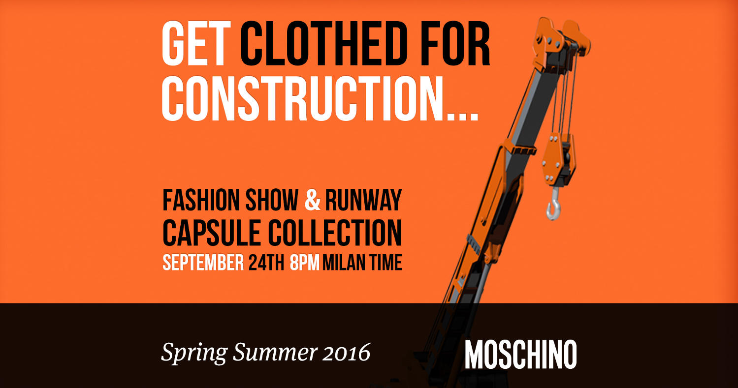 Moschino Spring Summer 2016 Women's Runway Show Live Streaming