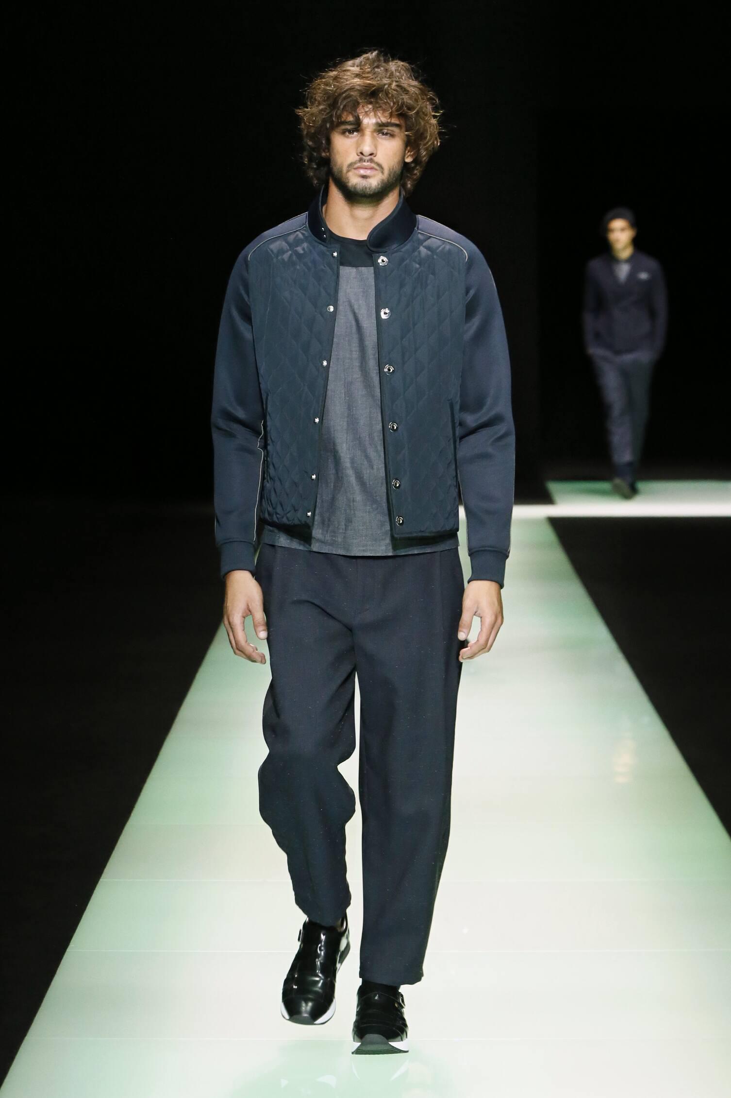 731d2f3c9b1 Runway Emporio Armani Spring Summer 2016 Men s Collection Milan Fashion Week