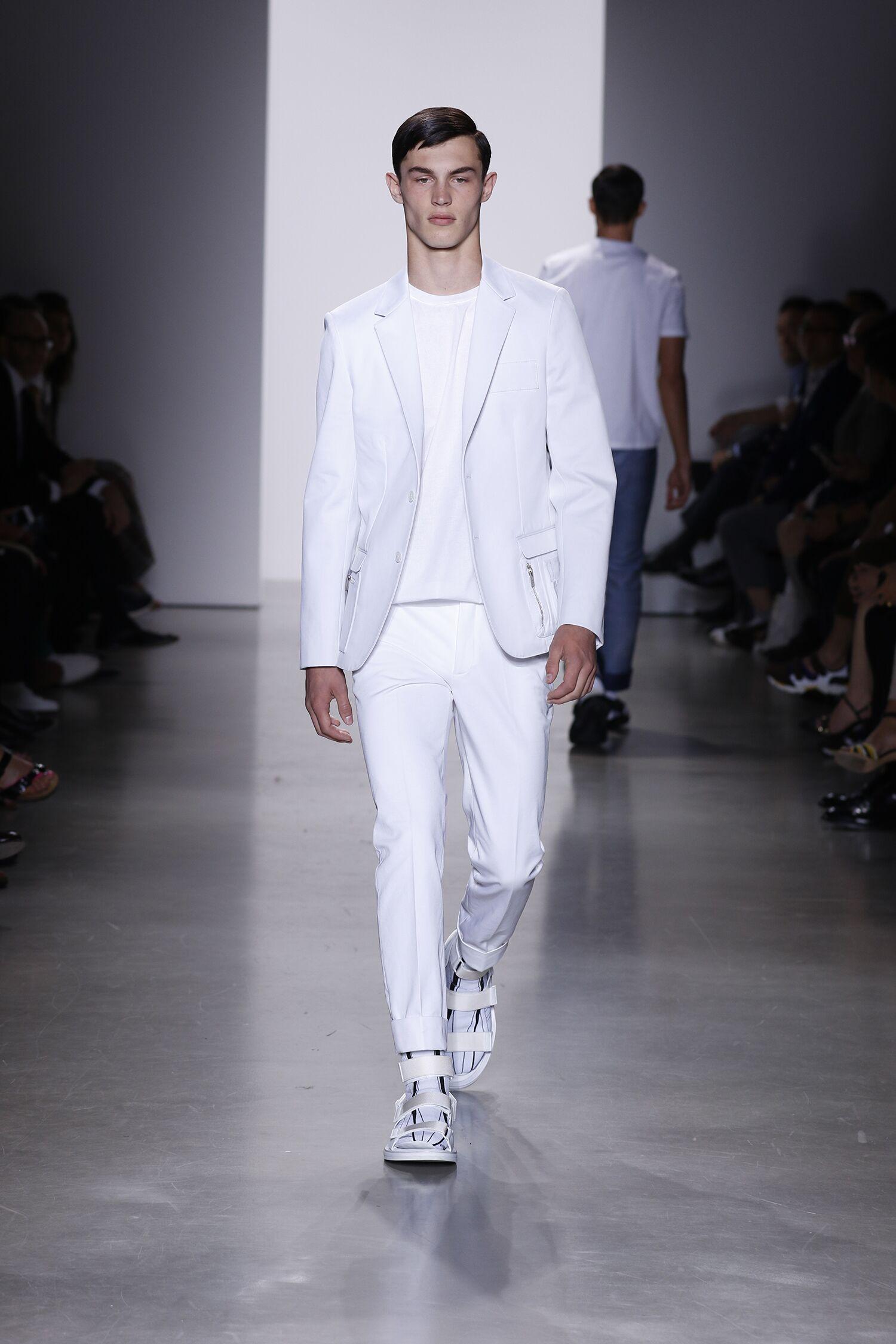 Spring Calvin Klein Collection Fashion Men Model