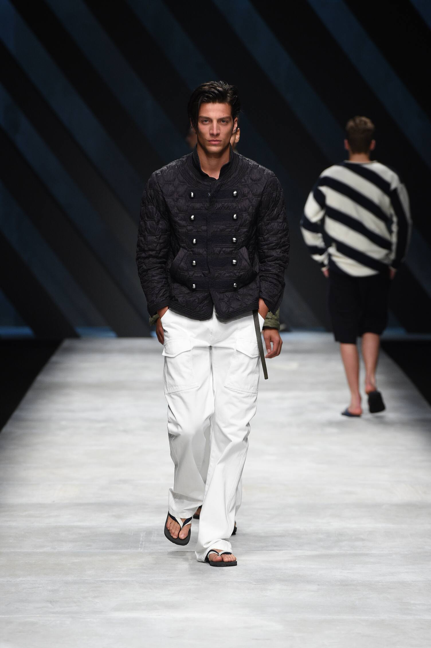 Spring Ermanno Scervino Collection Fashion Men Model