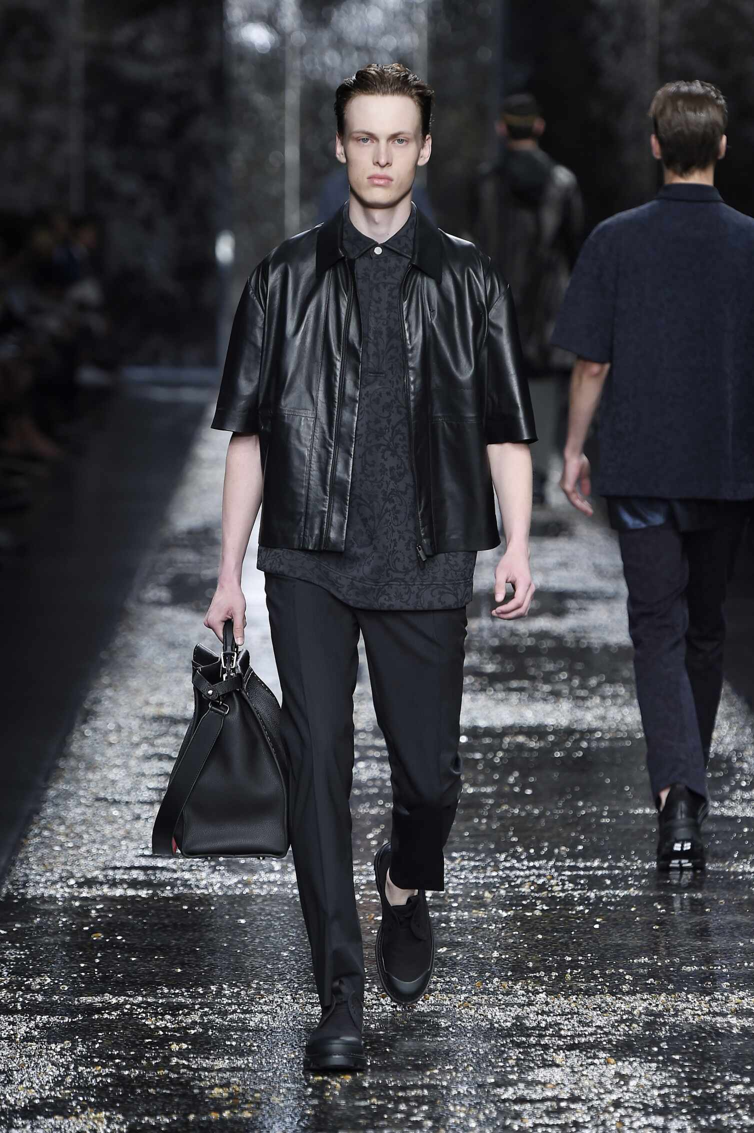 Spring Fendi Collection Fashion Men Model