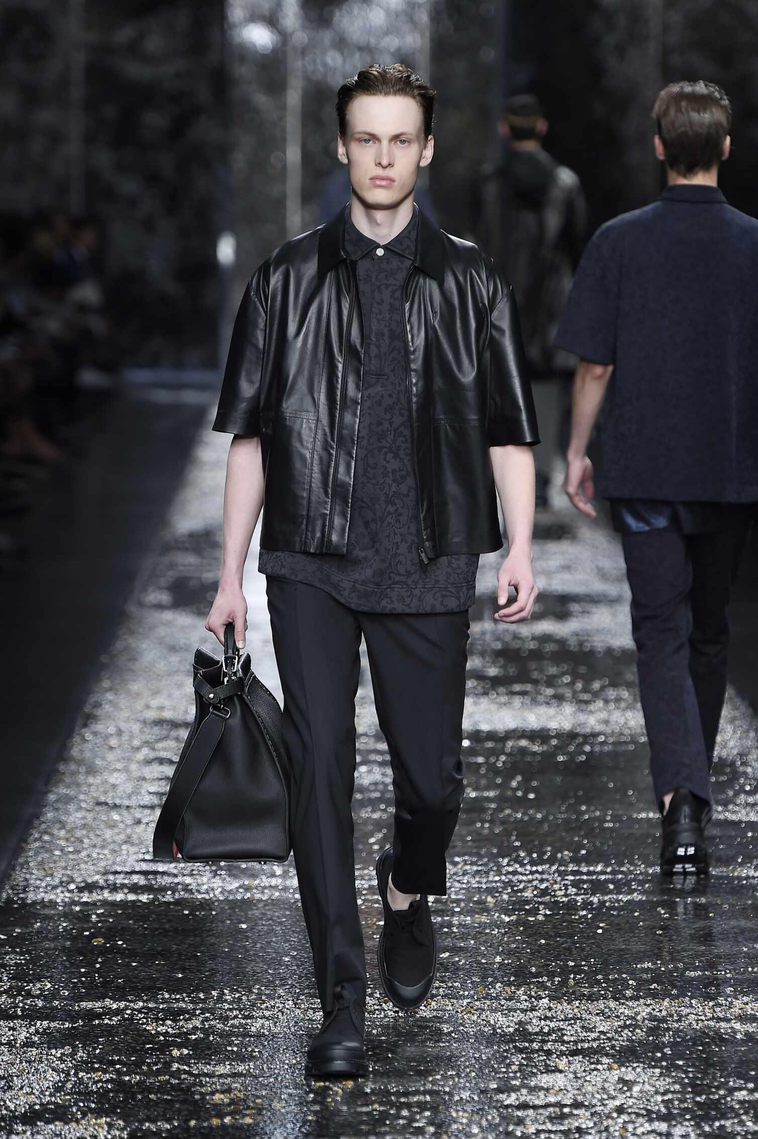 Spring Fendi Collection Fashion Men Model
