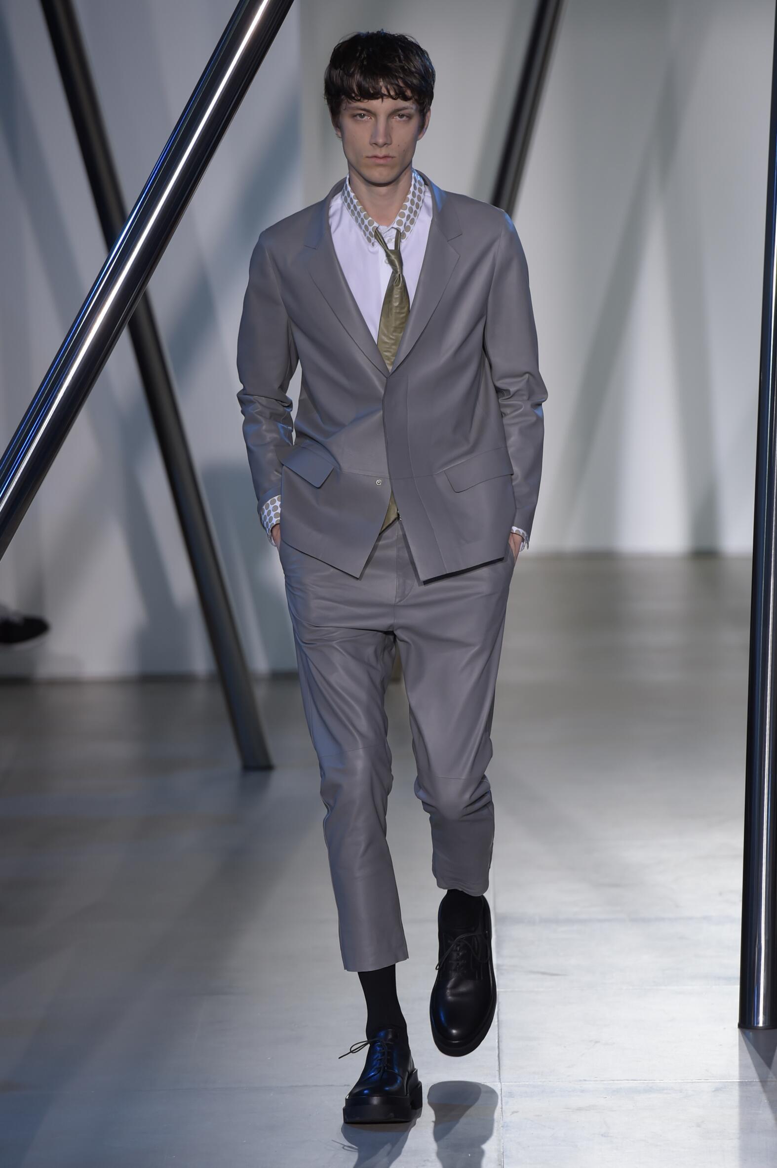 Spring Jil Sander Collection Fashion Men Model